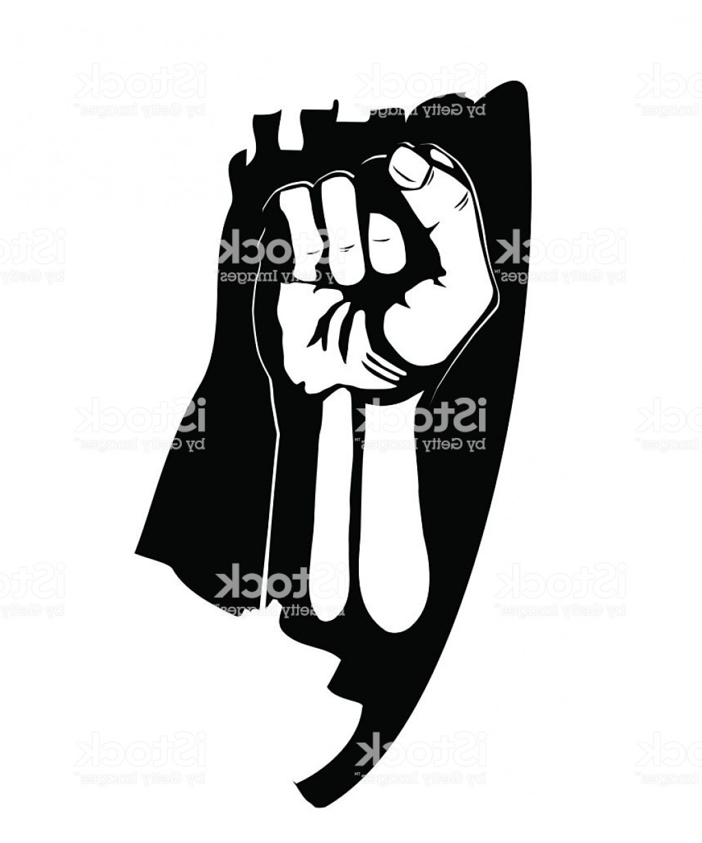 Hand Fist Vector: Clenched Fist Hand Vector Victory Revolt Concept Revolution Gm