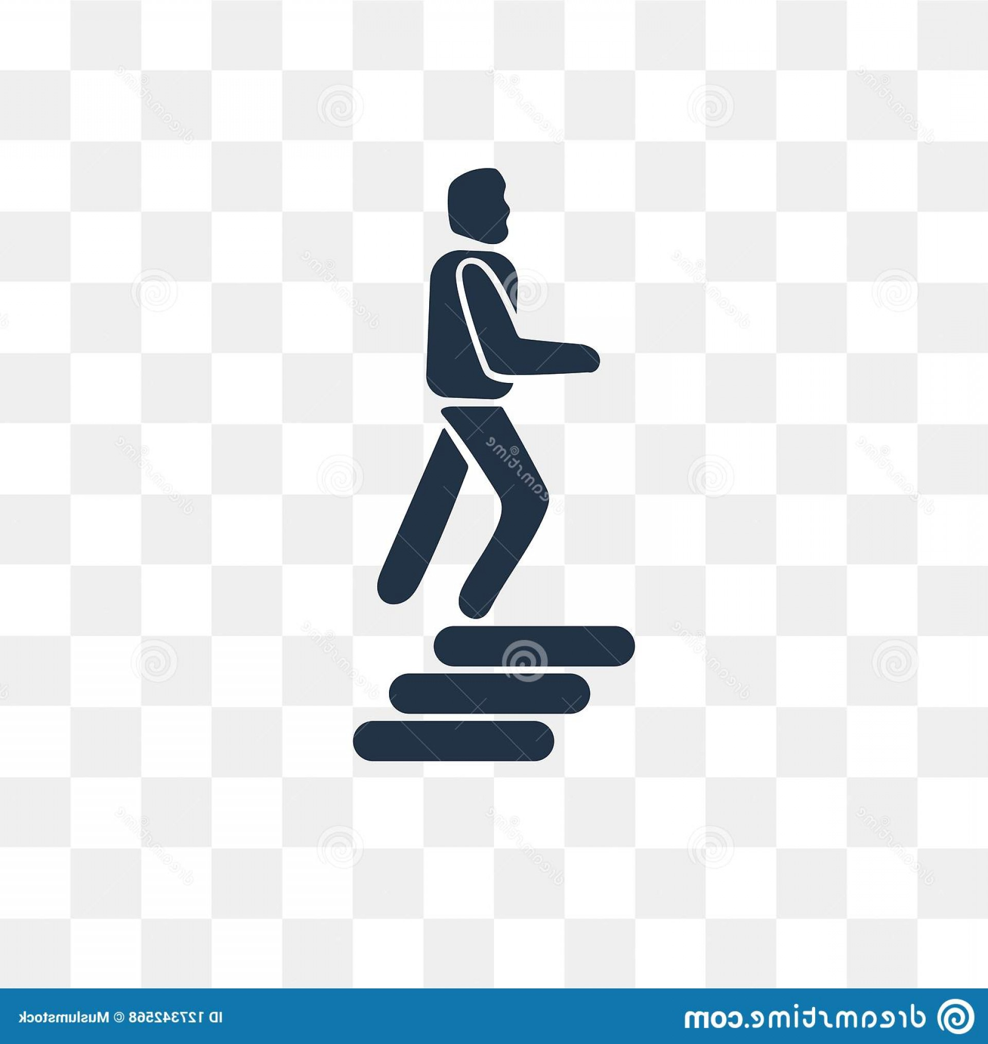 Stair Climb Vector: Climbing Stairs Vector Icon Isolated Transparent Background Transparency Concept Can Be Used Web Mobile Image