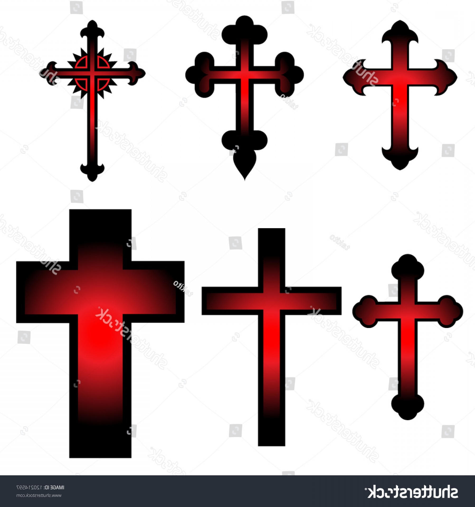 Cool Cross Vector Clip Art: Clip Art Illustration Vector Crosses Draw