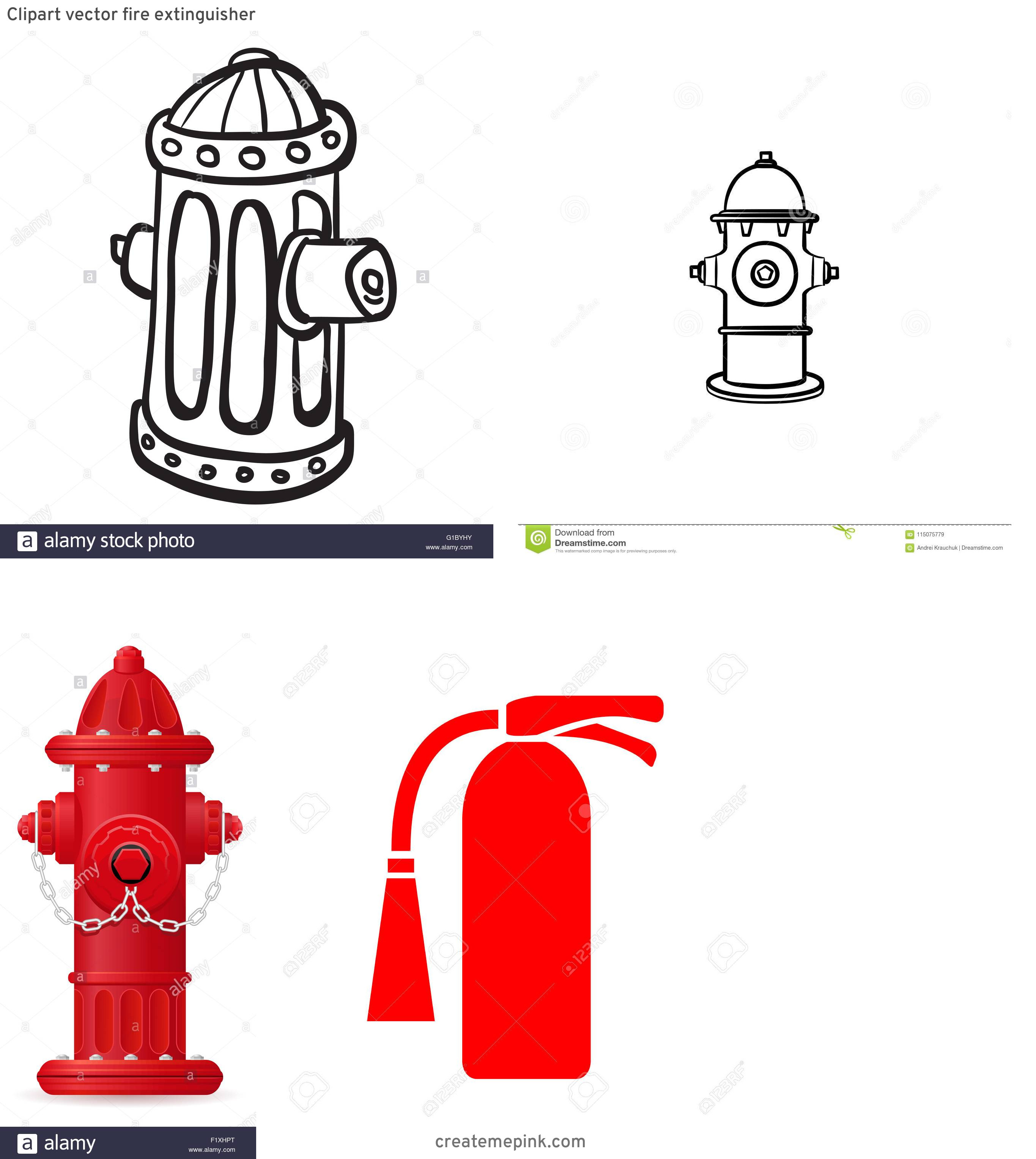 Fire Hydrant Vector Clip Art: Clipart Vector Fire Extinguisher