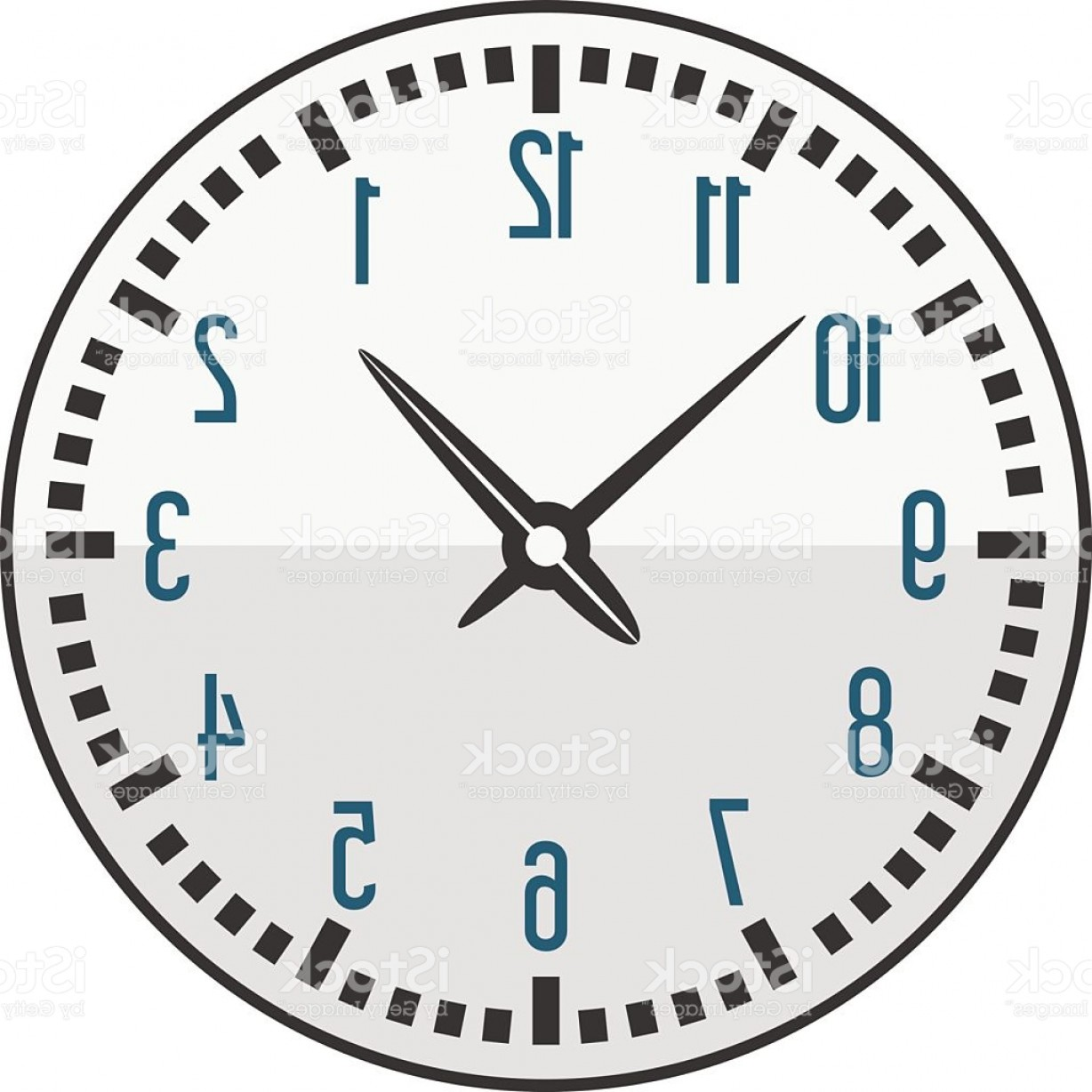 Watch Face Vector: Clock Face Watch Vector Illustration Gm