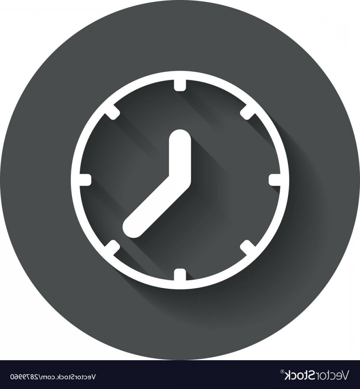 Vector Mechanical Clock Wheels: Clock Sign Icon Mechanical Clock Symbol Vector