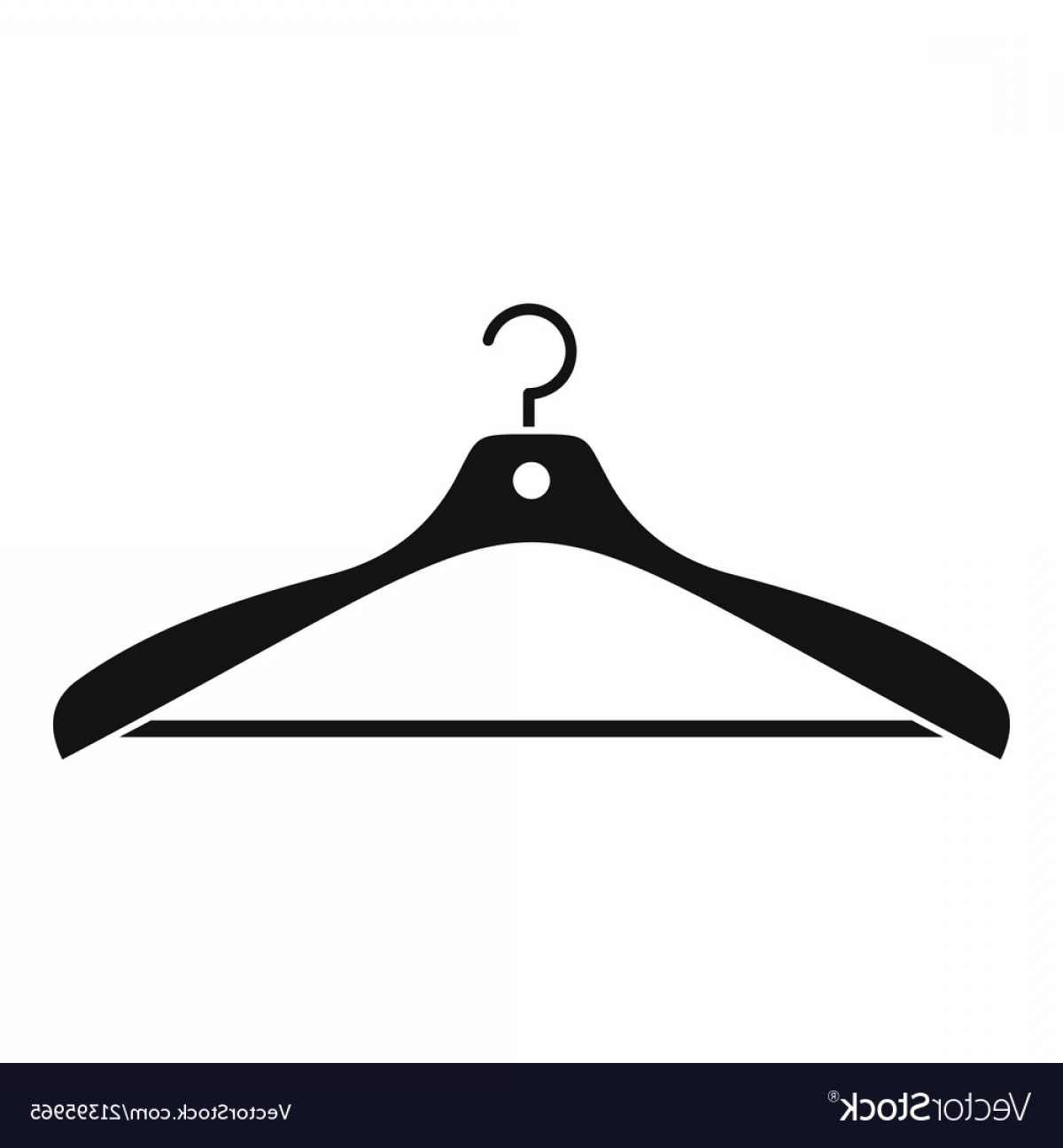 Shirt Hanger Icon Vector: Clothes Hanger Icon Simple Style Vector
