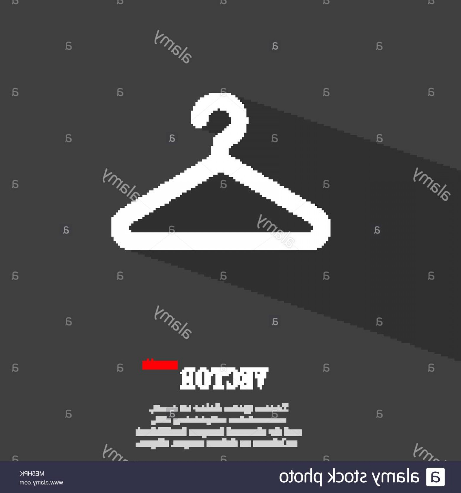 Shirt Hanger Icon Vector: Clothes Hanger Icon Symbol Flat Modern Web Design With Long Shadow And Space For Your Text Vector Illustration Image