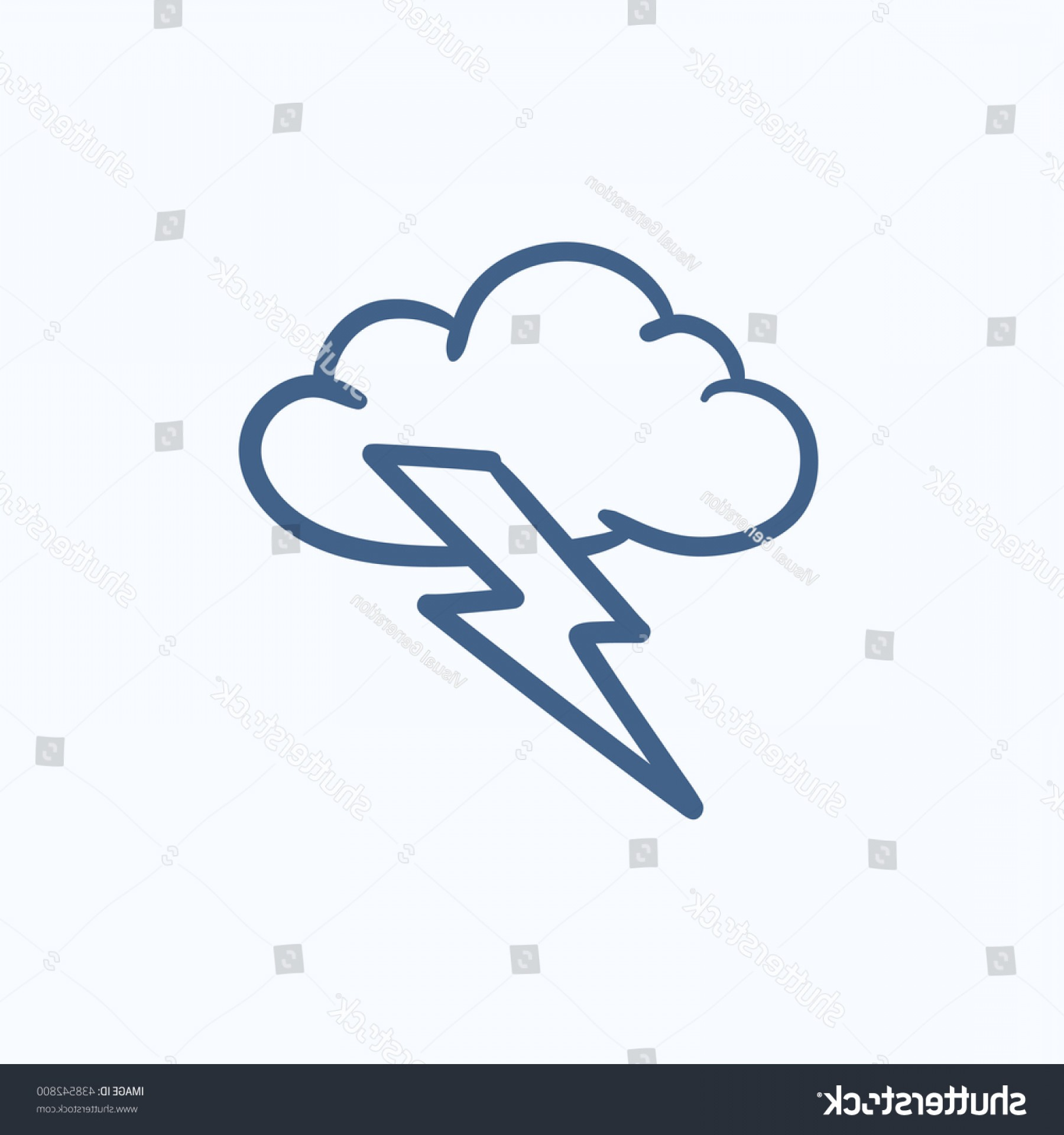 The Storm Vector Layout System: Cloud Lightning Bolt Vector Sketch Icon