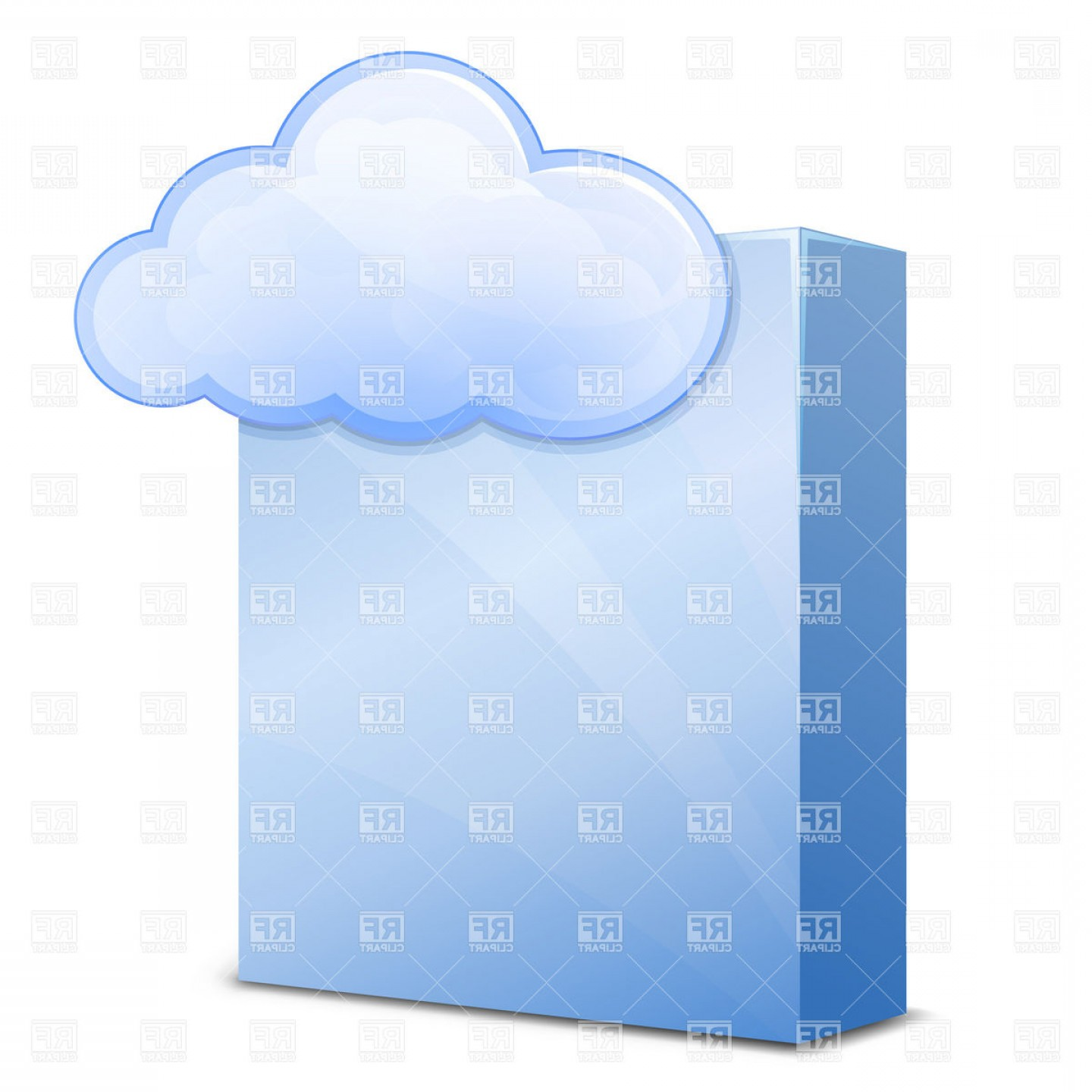 Free Vector File Software: Cloud Software Service Cloud Hosting Vector Clipart