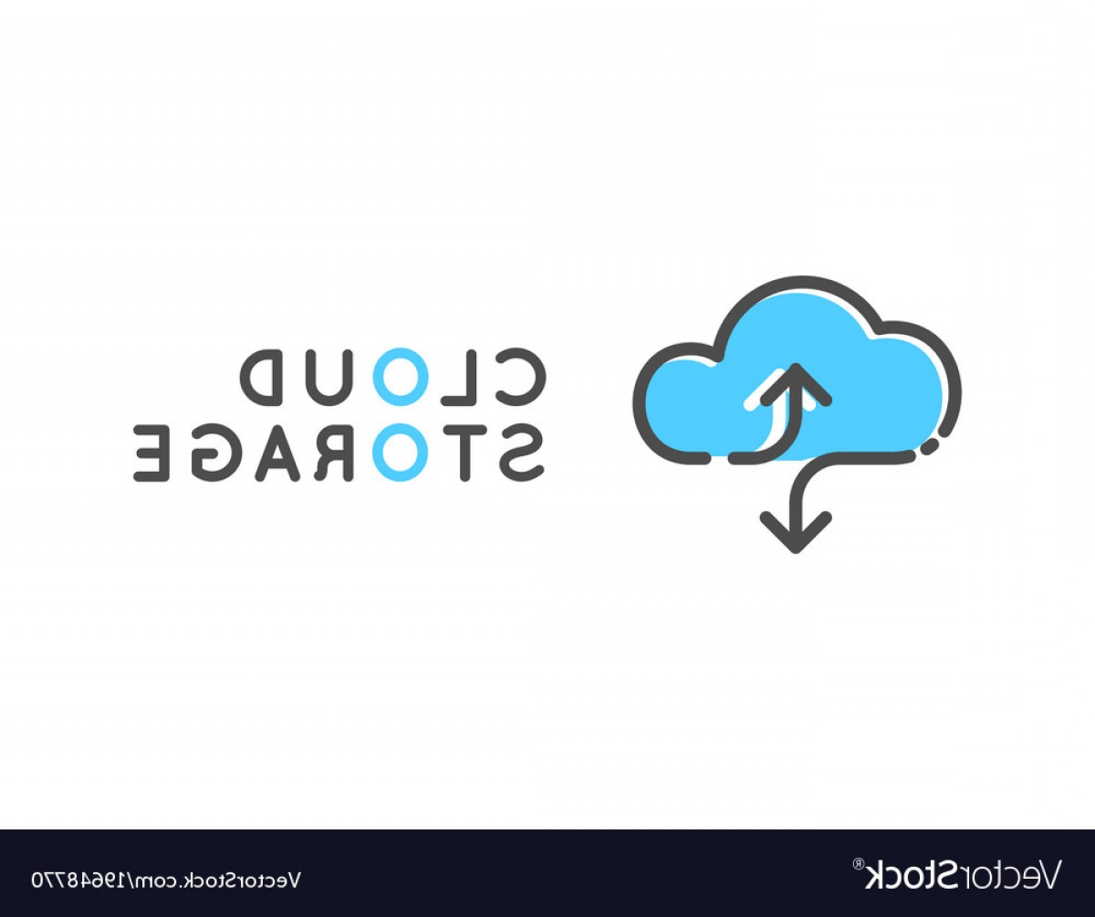 Share Logo Vector: Cloud Storage Logotype Data Share Logo Vector