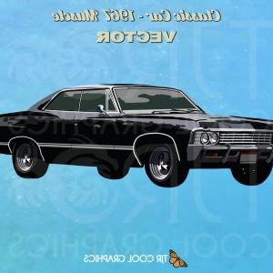 Classic Cars Vector Clip Art: A Set Of Cartoon Cars Collection Of Old Cars Vector