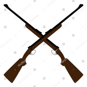 Sniper Rifle Vector Art: Classic Sniper Rifle Icon Simple Style Vector