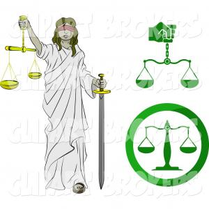 Blind Lady Of Justice Vector: Clip Art Of Lady Justice Blindfolded Carrying A Sword And A Set Of Scales By Atstockillustration