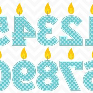 Birthday Candle Vector Art: Clip Art Vector Birthday Candles