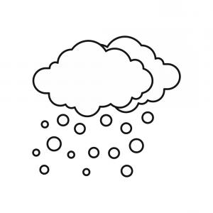 Cloud Outline Vector Black And White: Cloud Line Icon Outline Vector Sign Linear Style Pictogram Isolated On White Gm