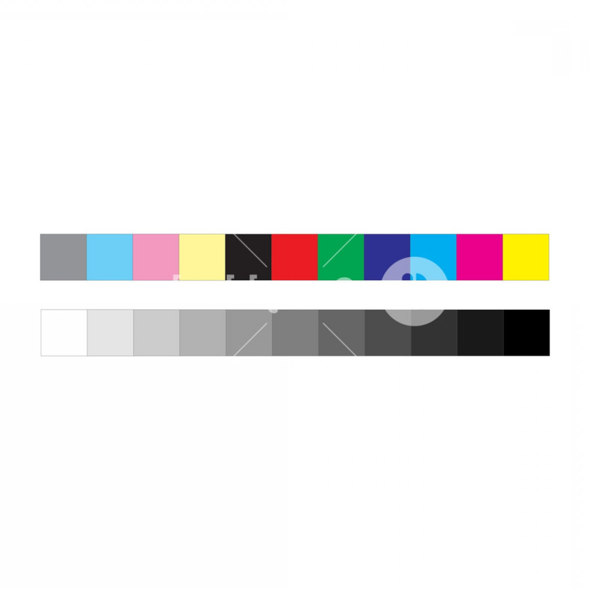 Color CMYK Chart Vector Free: Cmyk Press Marks Color And Greyscale Bar Vector Illustration Isolated On White Background Smlqualenjpufhi