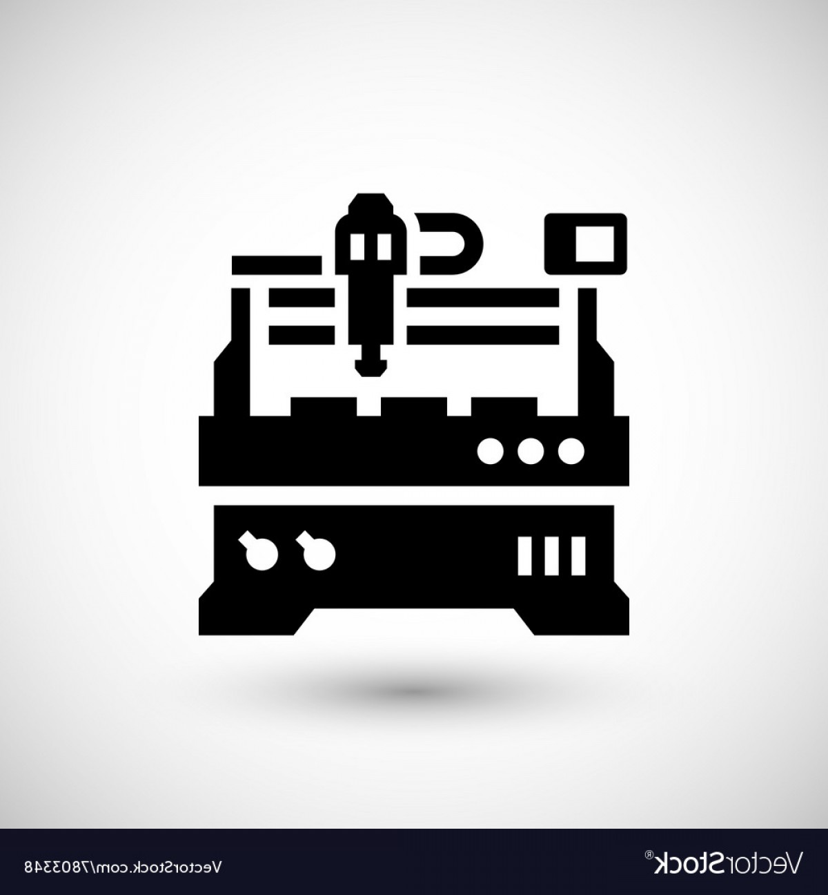 Vector CNC Designs: Cnc Milling Machine Icon Vector