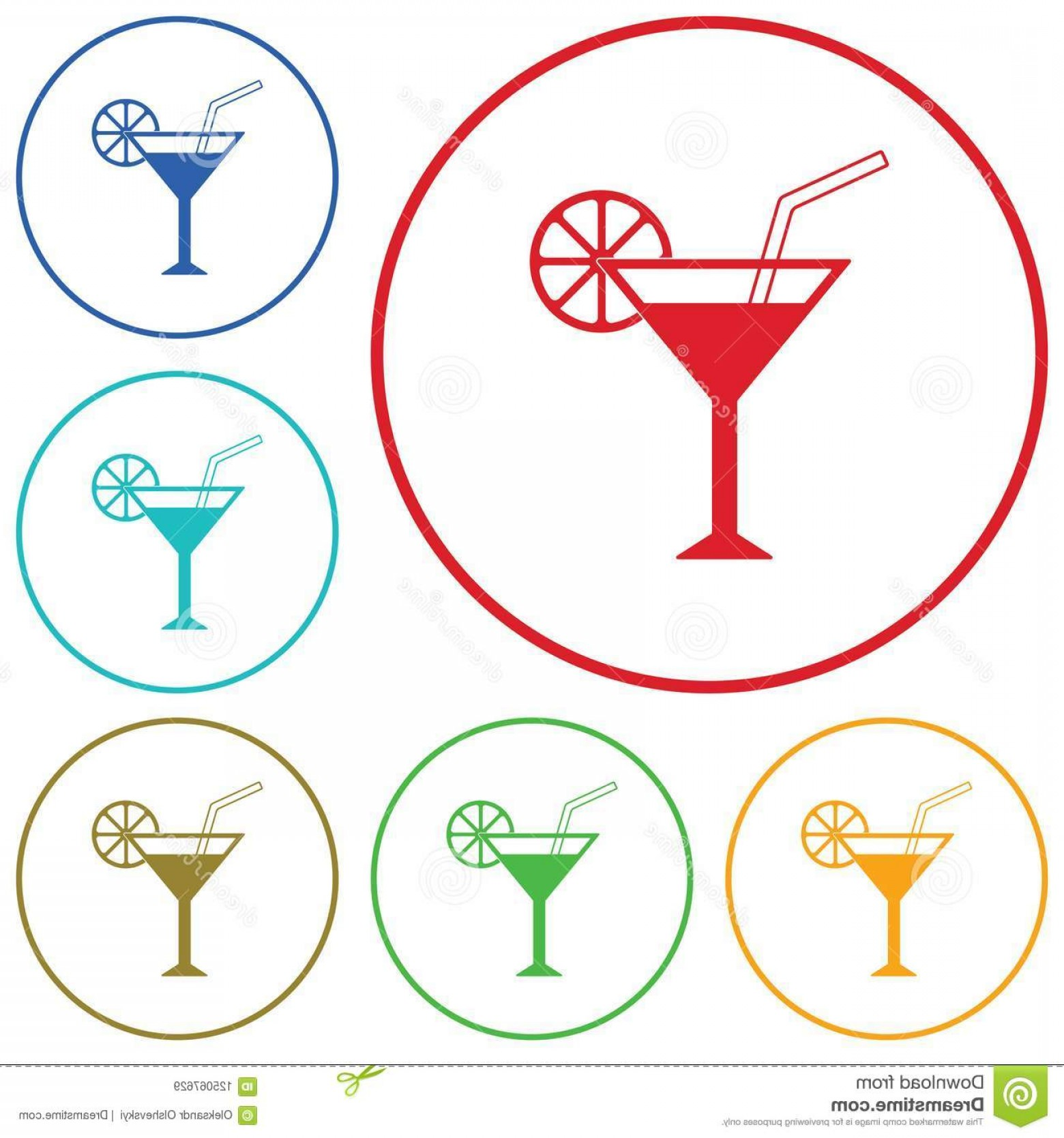 Cocktail Glasses Vector Art Decor: Cocktail Glass Sign Martini Vodka Icon Vector Illustration Cocktail Glass Sign Martini Vodka Icon Image