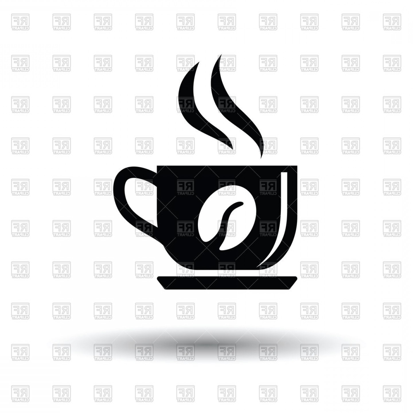 Coffee Mug Icon Vector: Coffee Cup Icon On White Background Vector Clipart