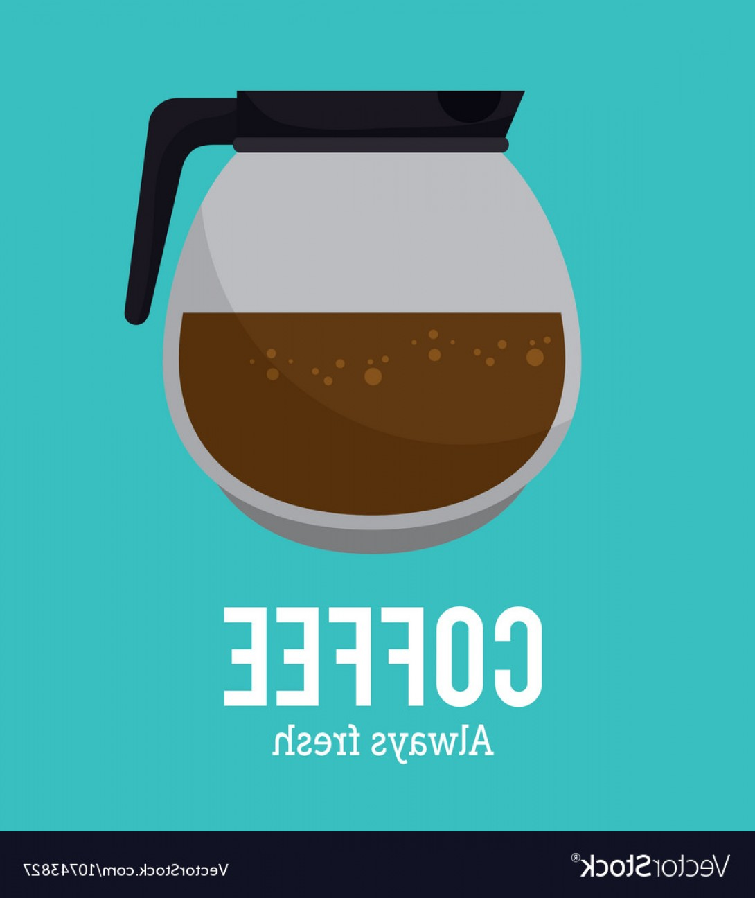 Vector Maker: Coffee Maker Glass Graphic Vector