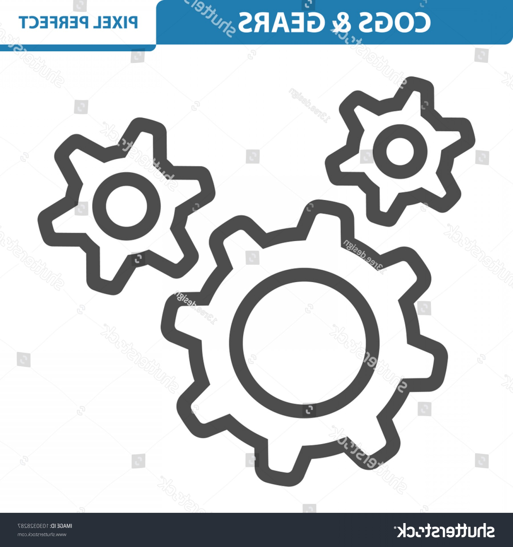 Gear Vector Icons Large: Cogs Gears Icon Professional Pixel Perfect