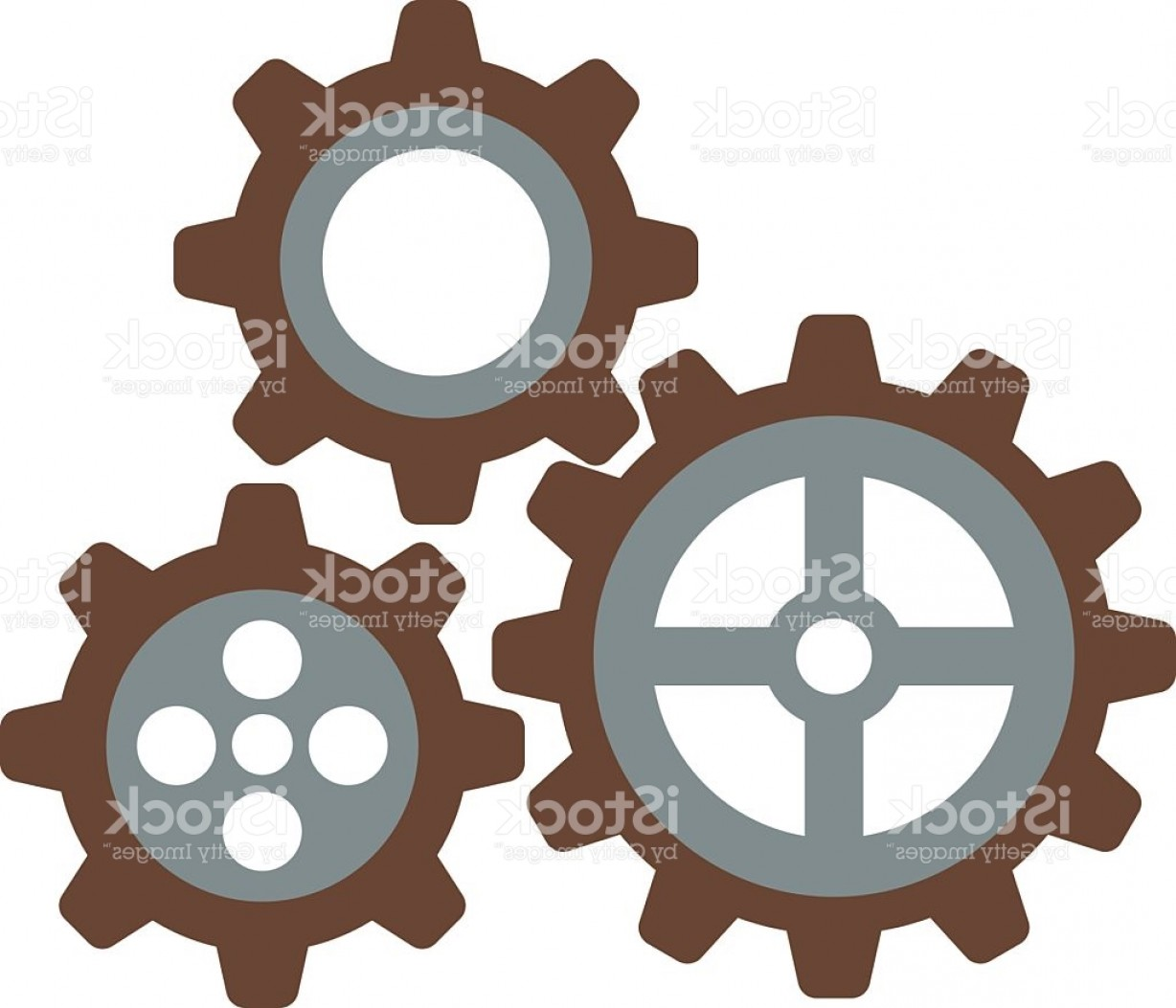 Vector Mechanical Clock Wheels: Cogwheel Machinery And Development Gear Icon Mechanical Technology Wheel Machine Gm