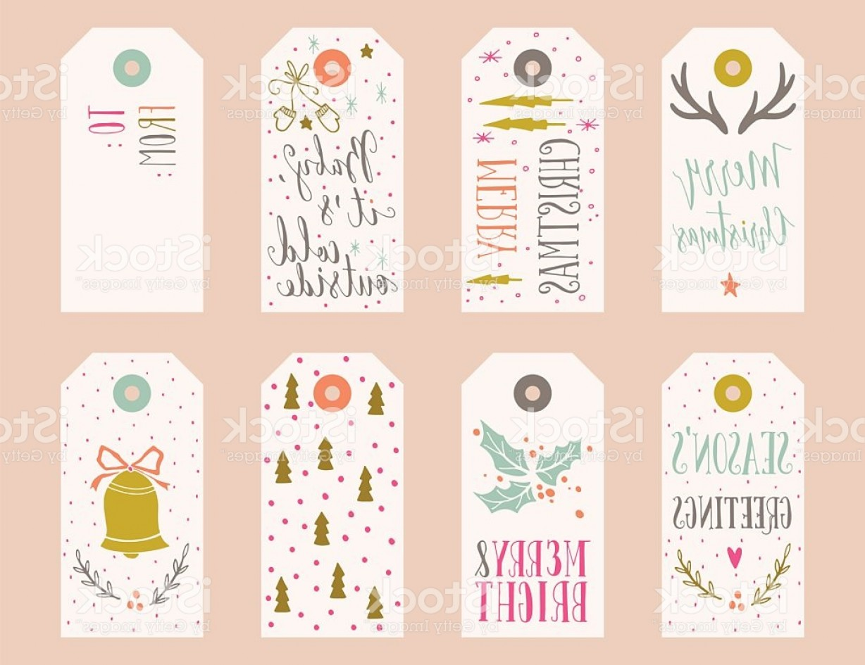Gift Tags Vector Art: Collection Of Christmas Gift Tags Gm