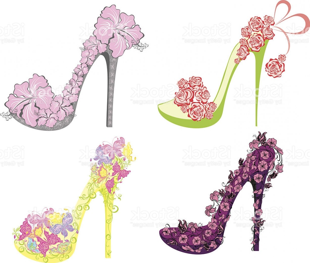 Silhouette Hee High Vector Lsitleetios: Collection Of Fashion High Heels Shoes Gm