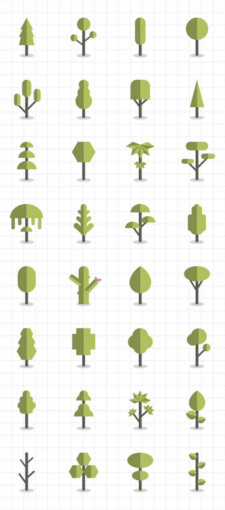 Free Vector Download Sites: Collection Of Plants And Tree Vectors