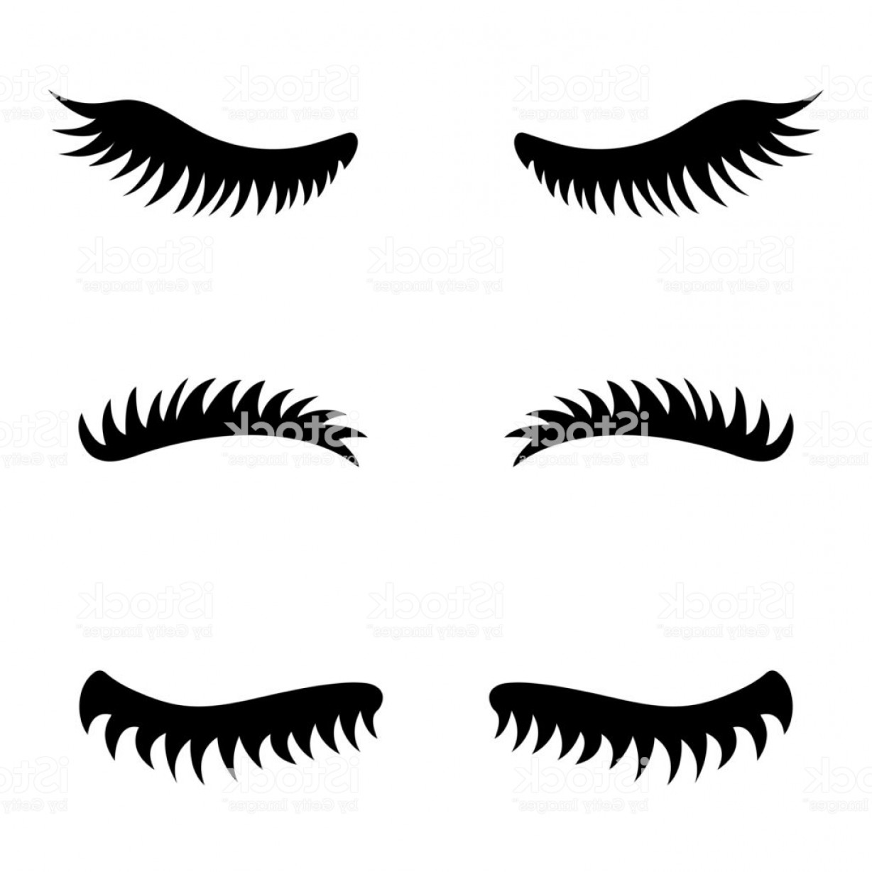 Top Eye Lashes Vector: Collection Of Vector Eyelashes Cute Lashes Gm