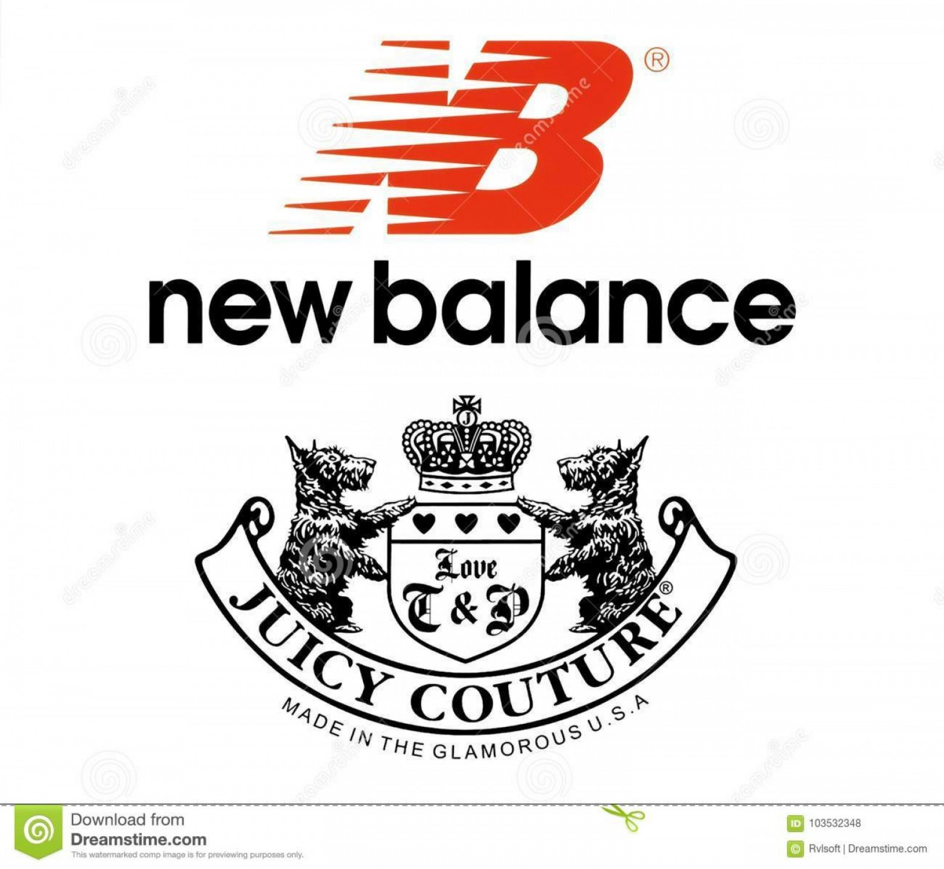 New Balance Vector: Collection Popular Sportswear Manufactures Logos Kiev Ukraine October Printed Paper New Balance Juicy Couture Image
