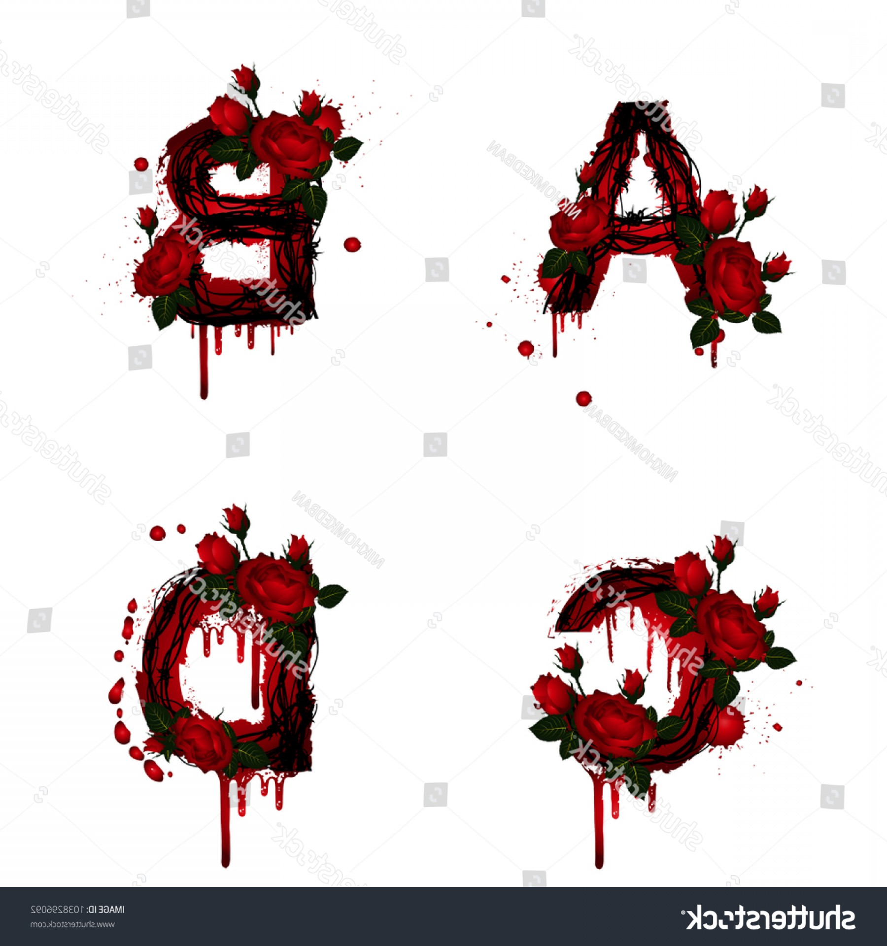 ABC News Logo Vector: Collection Vector Alphabet Rose Flower Abc