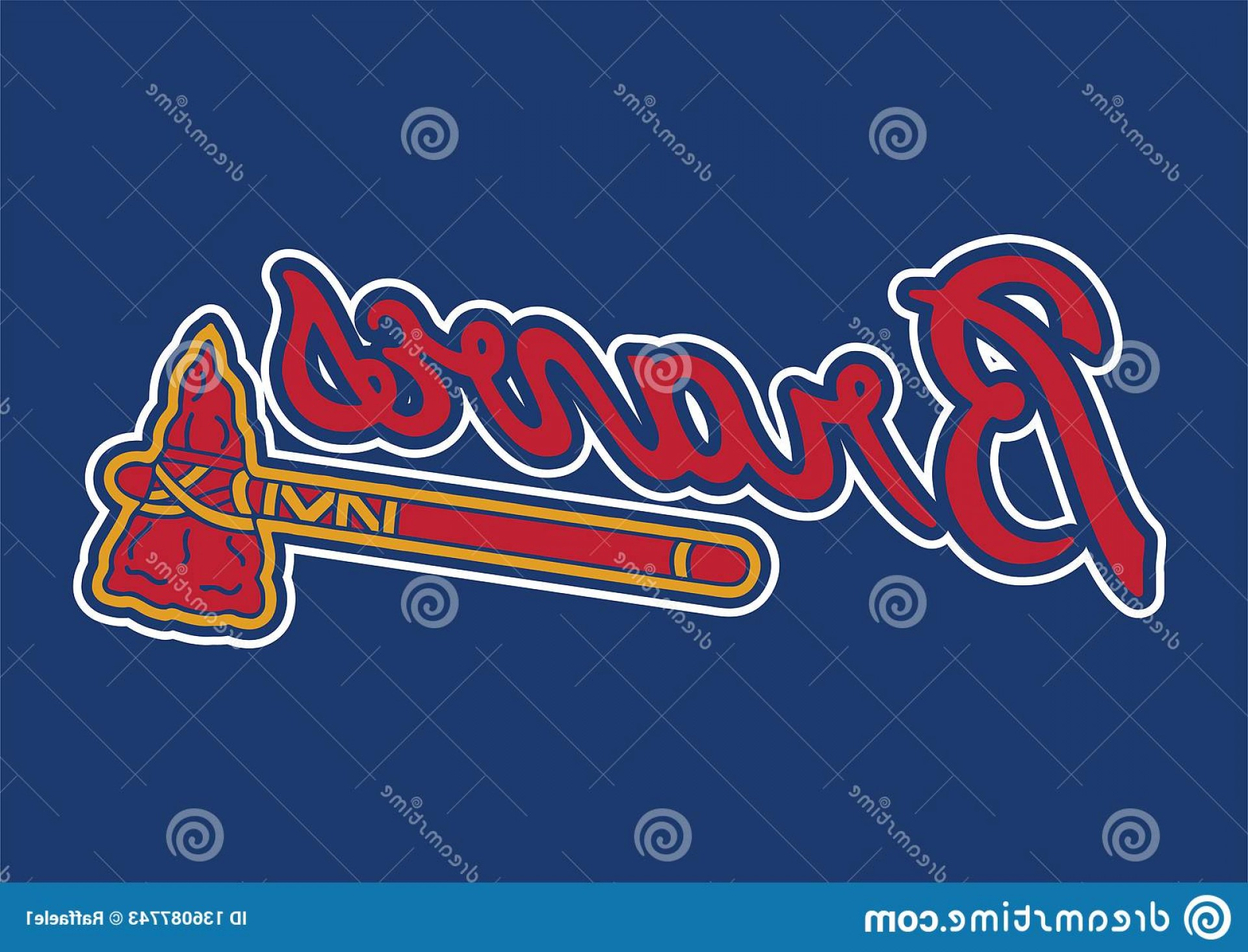 Braves Logo Vector: Collection Vector Logos Major League Baseball Teams Format Available Ai Illustrator Atlanta Braves Logo Image