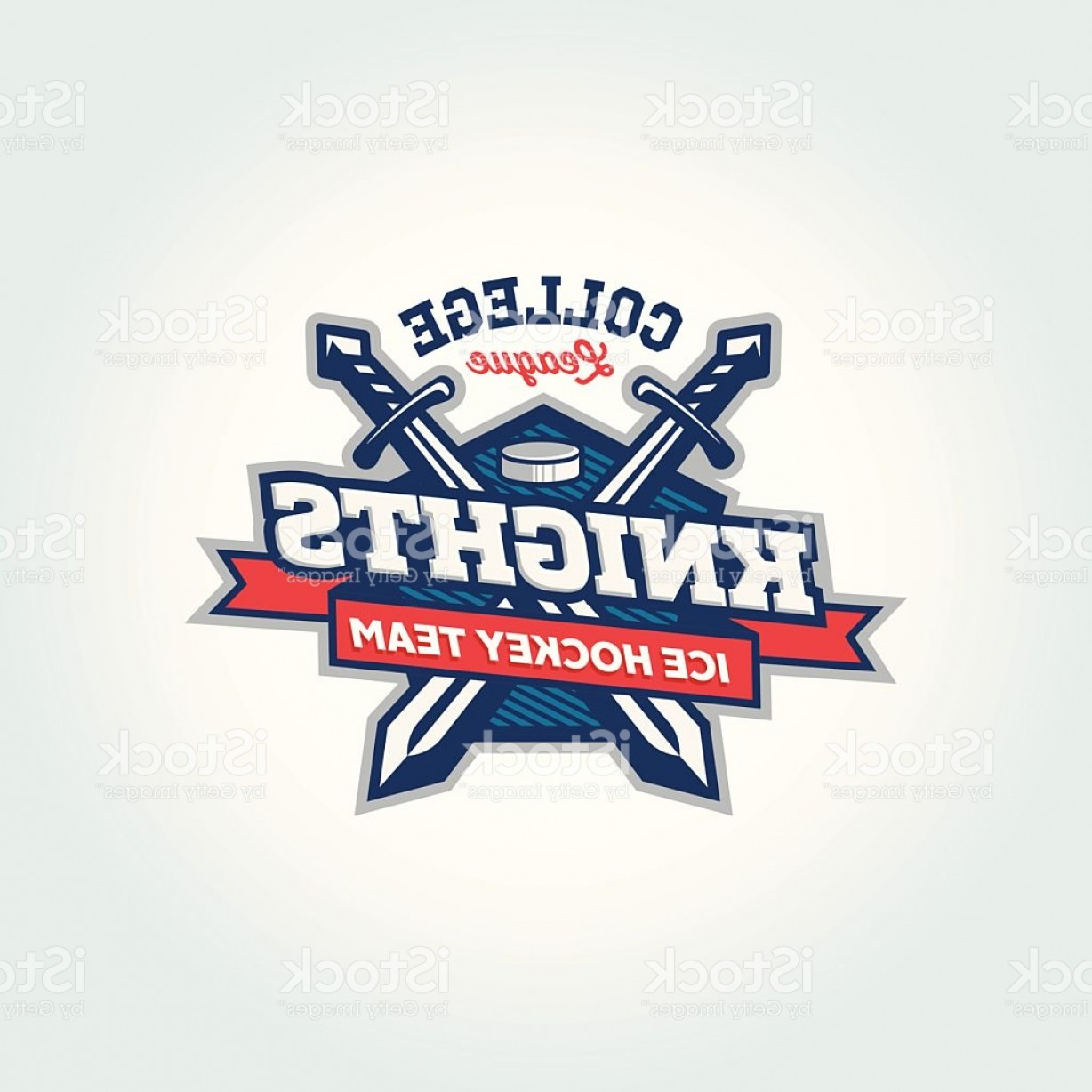Hockey Teams Logo Vectors: College League Sport Team Logo Apparel Concept Gm