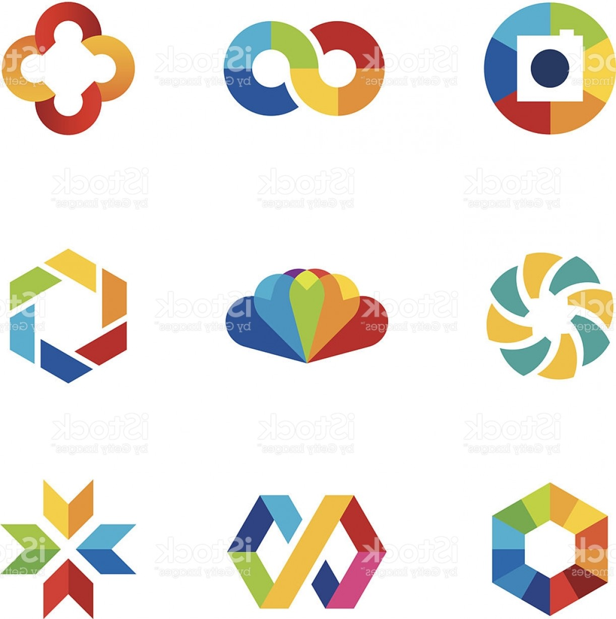 Share Logo Vector: Color Capture Imagination Limitless Education Share Community Logo Icon Set Gm