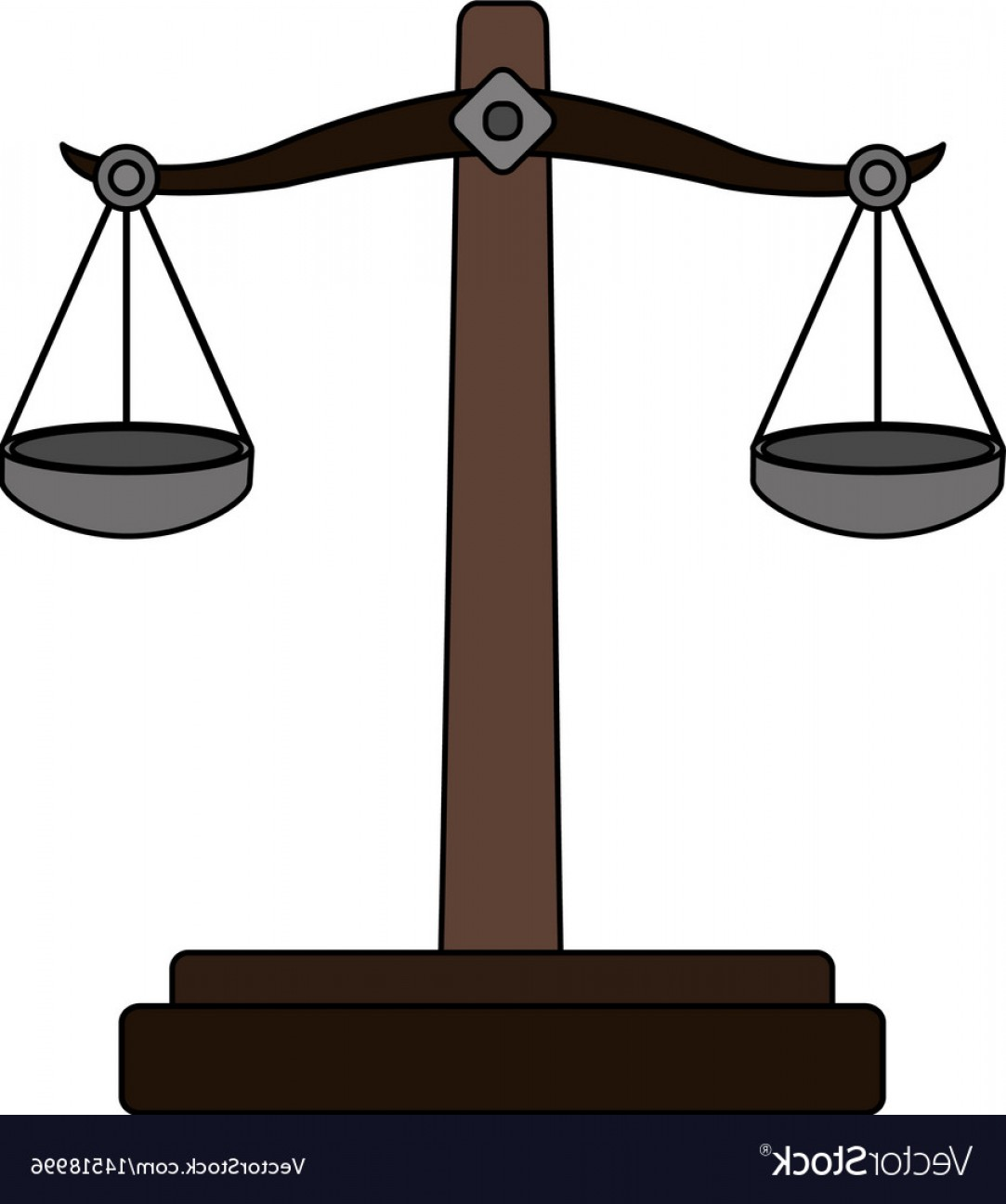 Balance Symbol Vector: Color Graphic Balance Symbol Of Justice Vector