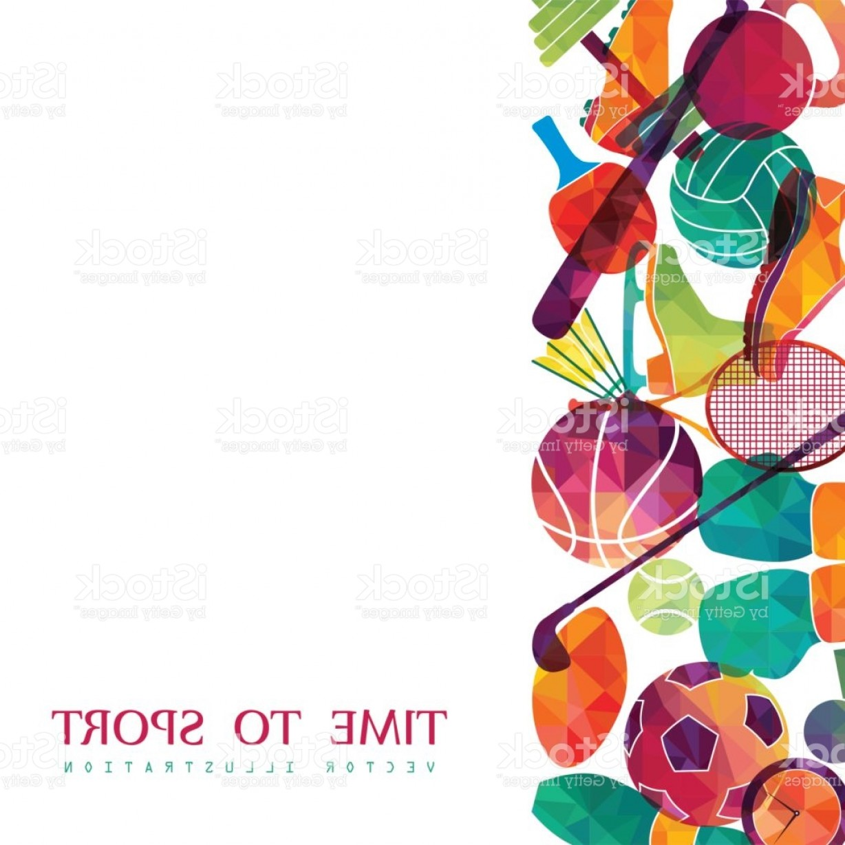Basketball Vector Graphic Designs: Color Sport Background Football Basketball Hockey Box Golf Tennis Vector Gm