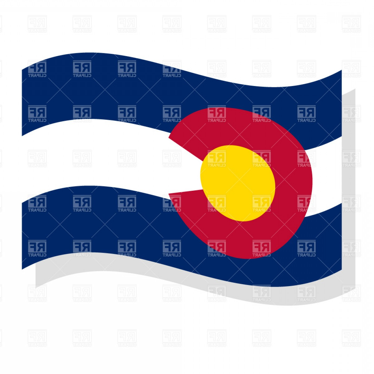 State Flag Images Vector: Colorado State Flag Vector Clipart