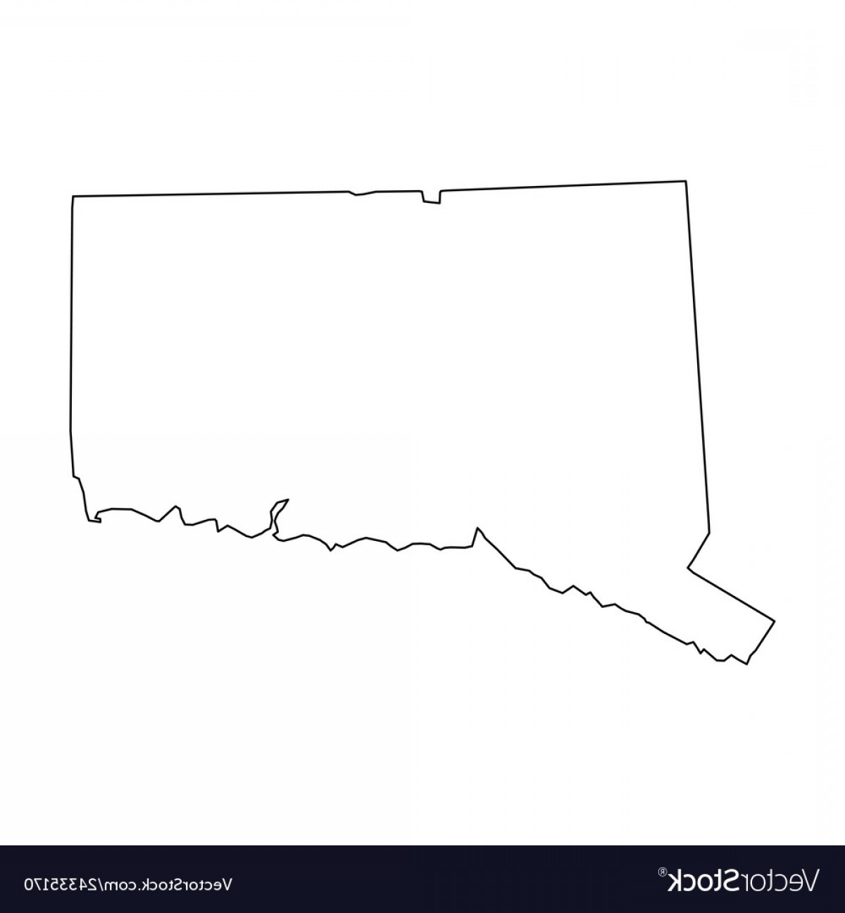Colorado State Vector Maps: Colorado State Of Usa Solid Black Outline Map Vector