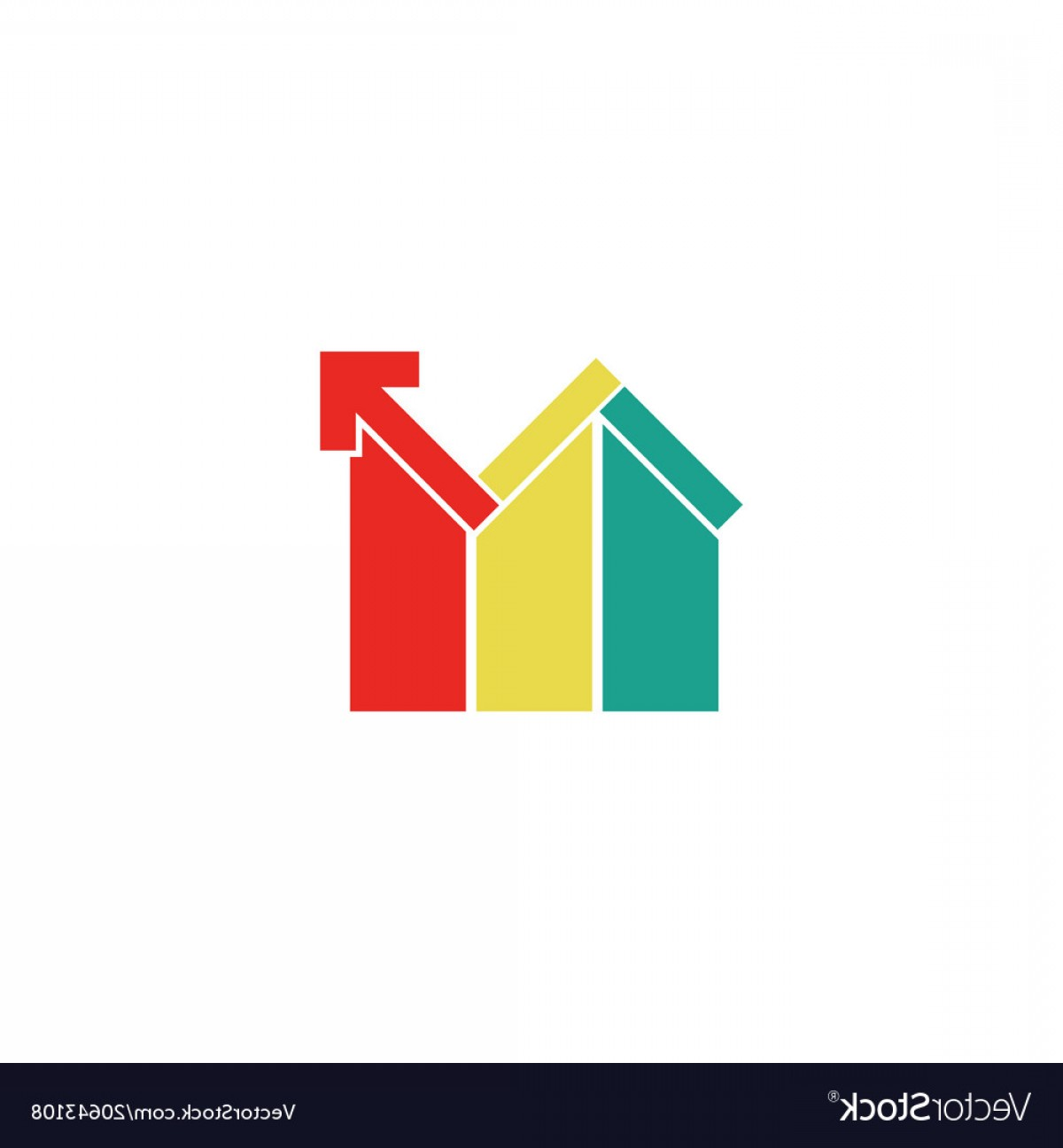 Home Logo Vector: Colored Realty Home Logo Vector