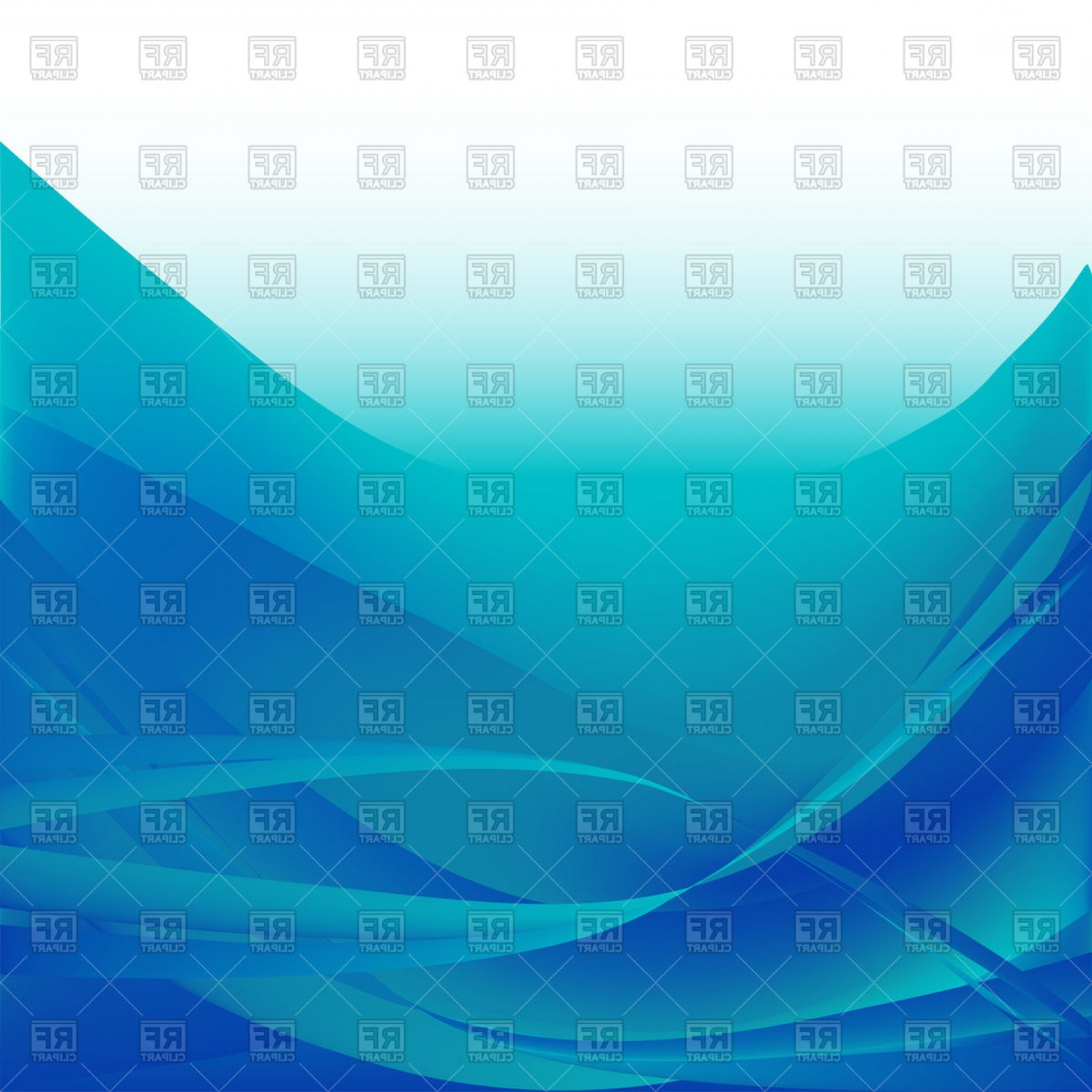 Blue With White Background Vector: Colorful Blue Light Waves Isolated Abstract On A White Background Vector Clipart