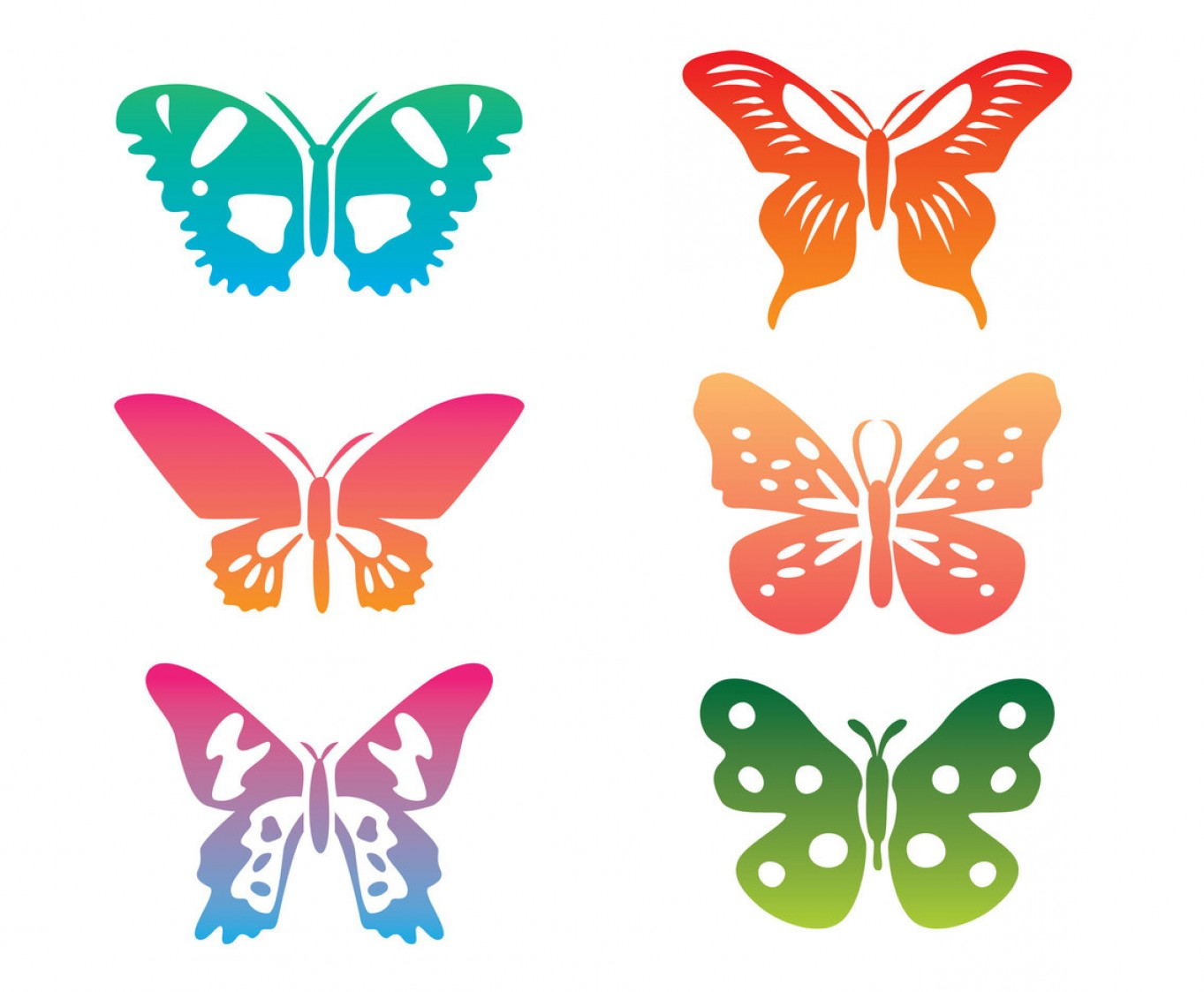 Vector Butterfly Clip Art: Colorful Butterfly Clip Art Vector