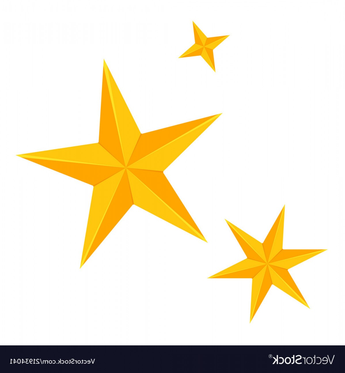 Stars Yellow Christmas Vector: Colorful Cartoon Christmas Stars Set Vector