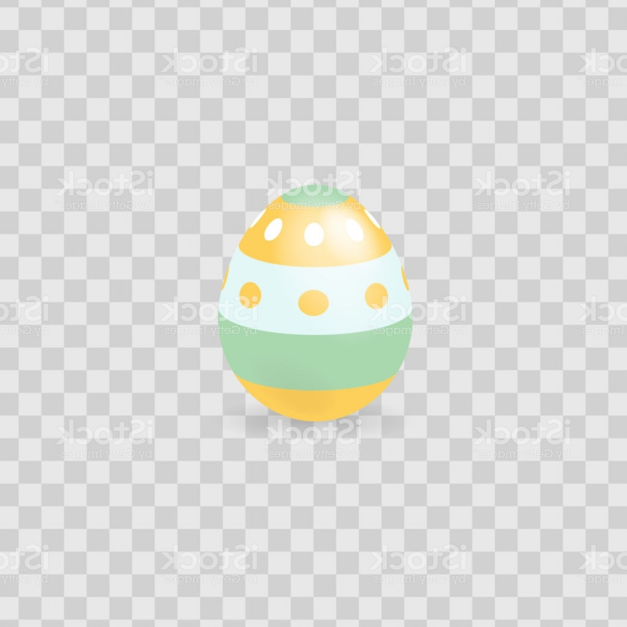 Easter Vector Art No Background: Colorful Easter Egg Isolated On Transparent Background Vector Illustration Gm