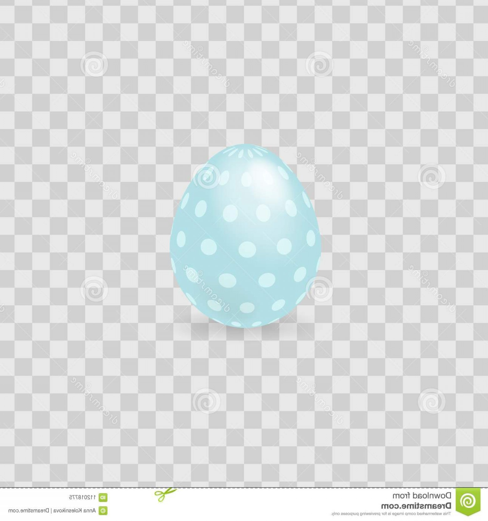 Easter Vector No Background: Colorful Easter Egg Isolated On Transparent Background Vector