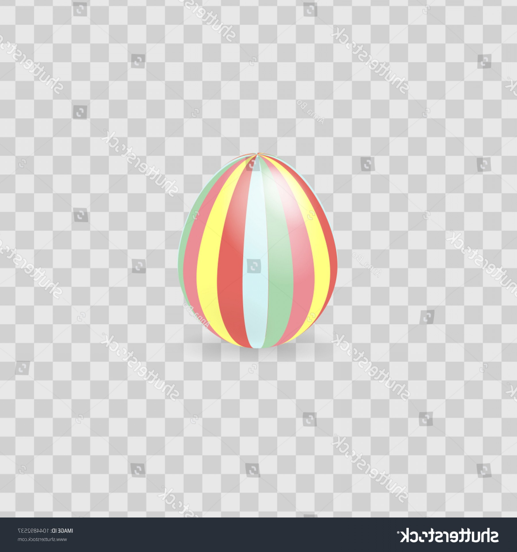 Easter Vector No Background: Colorful Easter Egg Isolated On Transparent