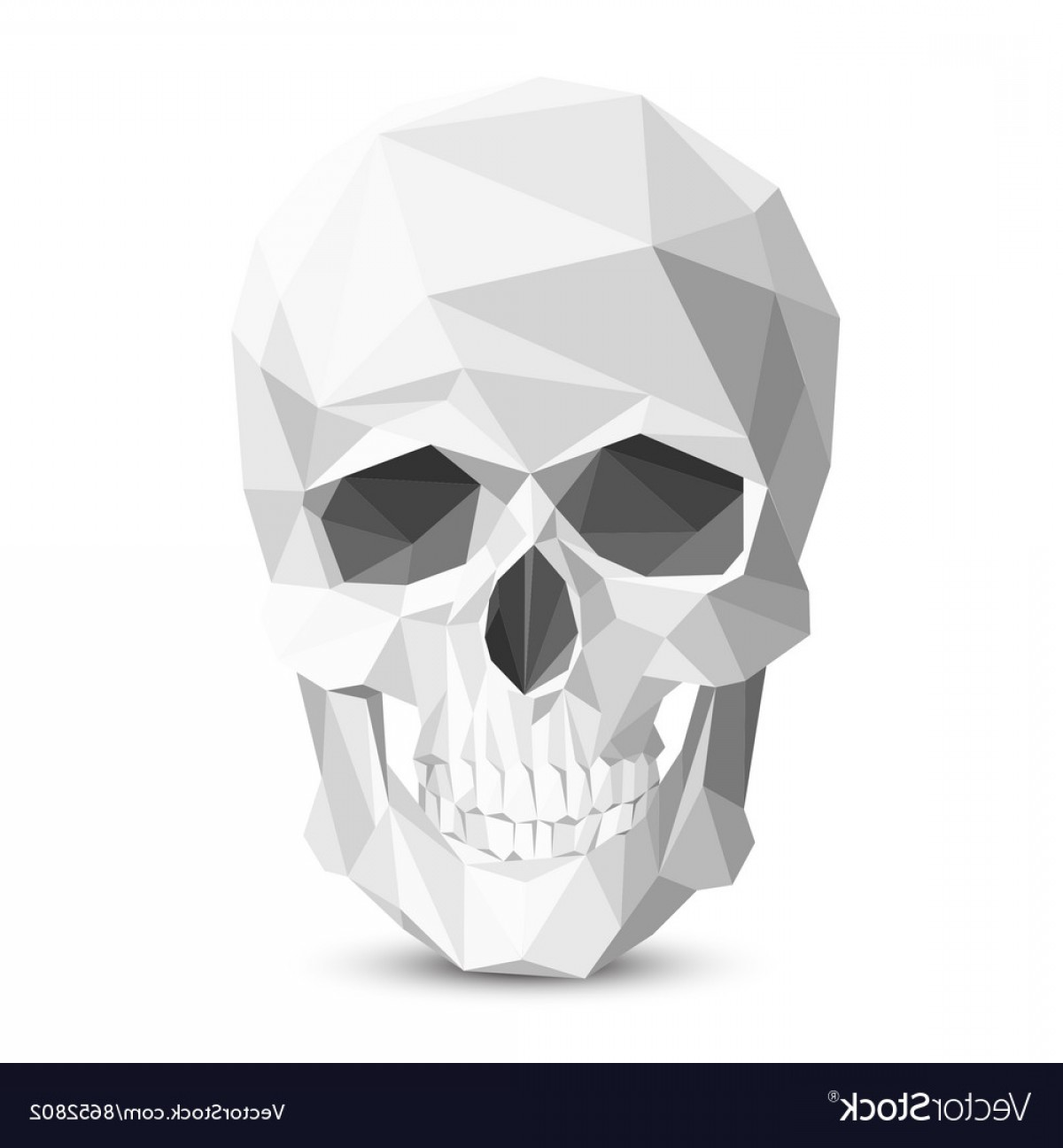 His And Hers Skulls Vector: Colorful Geometric Low Poly Skull Vector