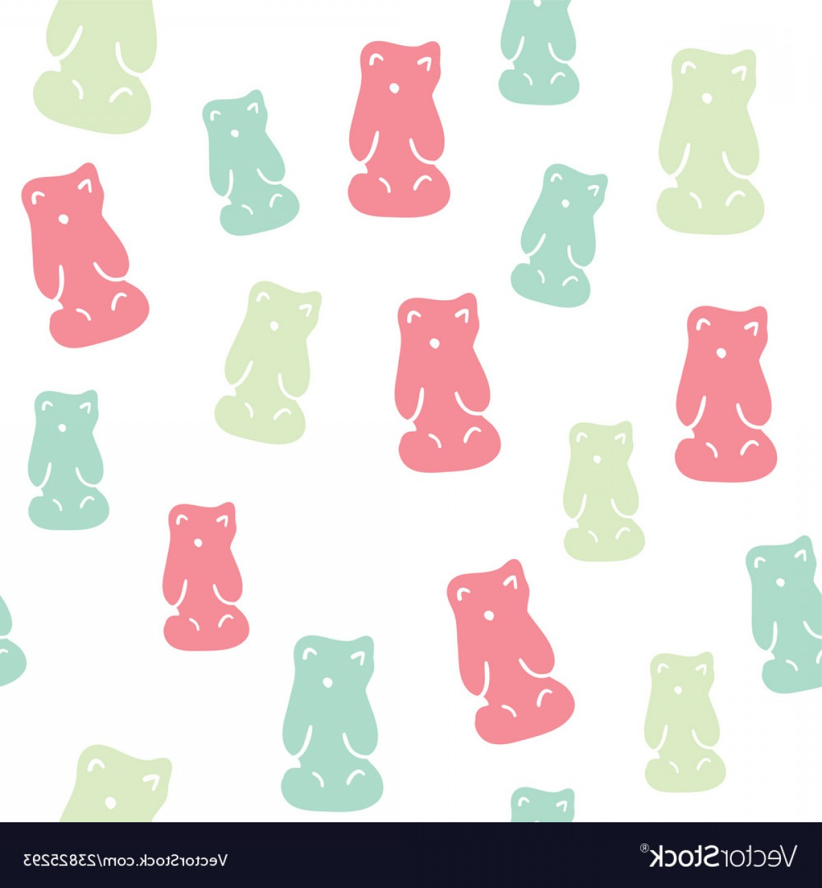 Gummy Bear Vector: Colorful Gummy Bears Candies Background Vectors