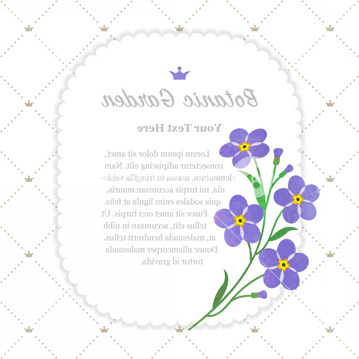 Get For Me Not Flower Watercolor Vector Art: Colorful Watercolor Texture Vector Nature Botanic Garden Memo Frame Violet Forget Me Not Hjmnneosdjlgmcbu