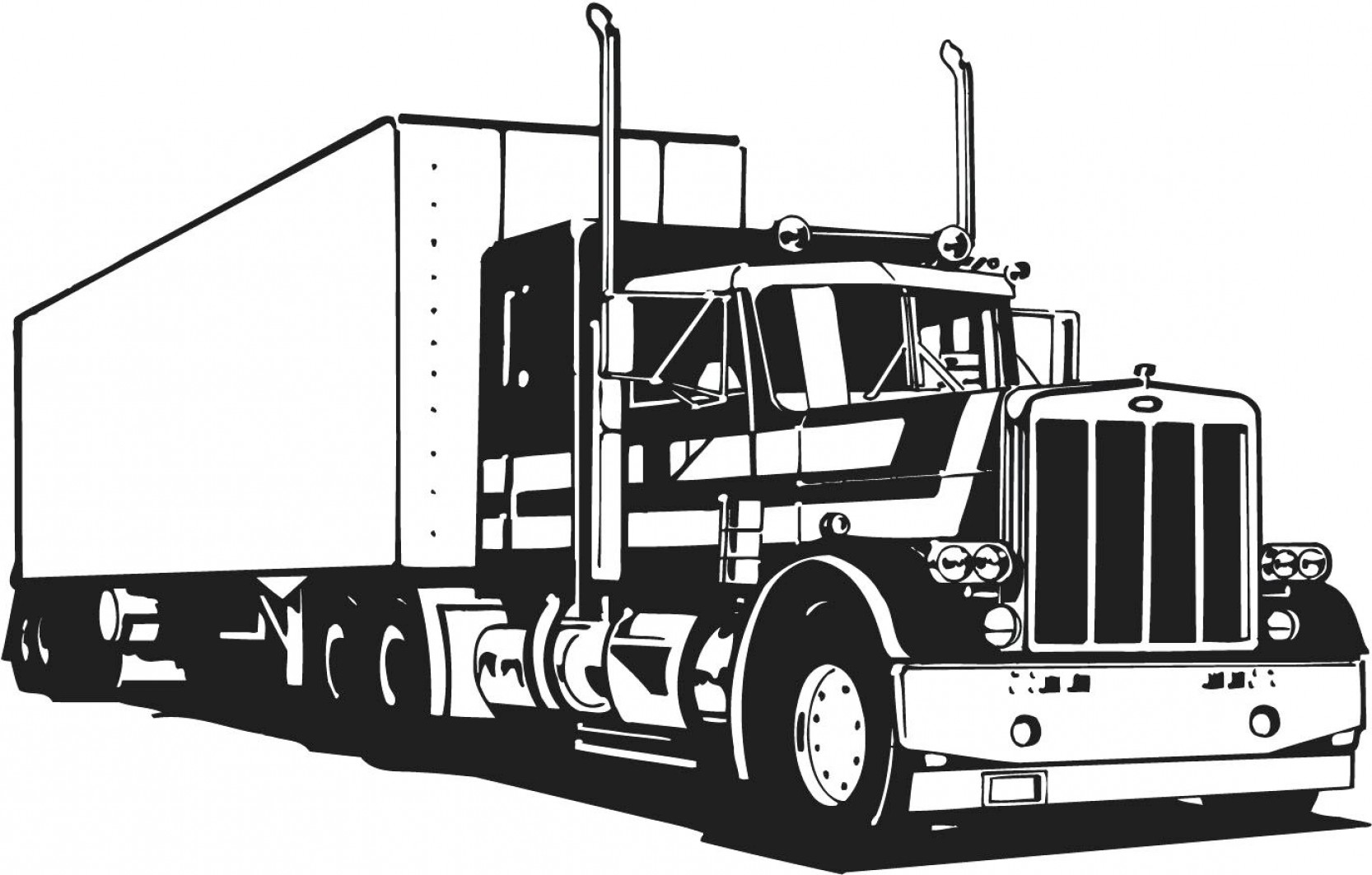 Vector Semi Tanker: Coloring Pages Christmas Disney Truck Download Free Vector Logging In Semi Page
