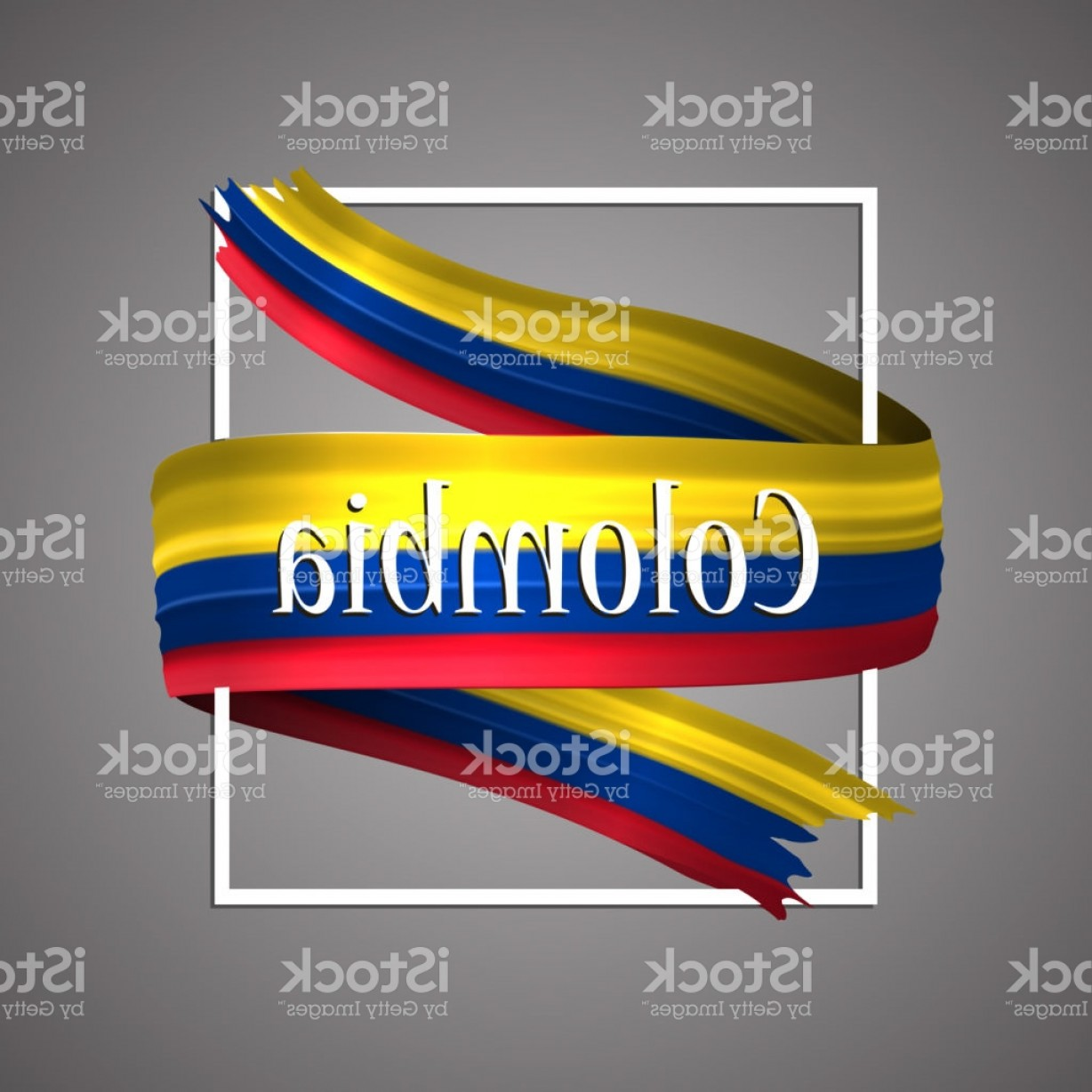 Columbia Logo Vector: Columbia Flag Official National Colors Colombia D Realistic Flag Ribbon Waving Gm