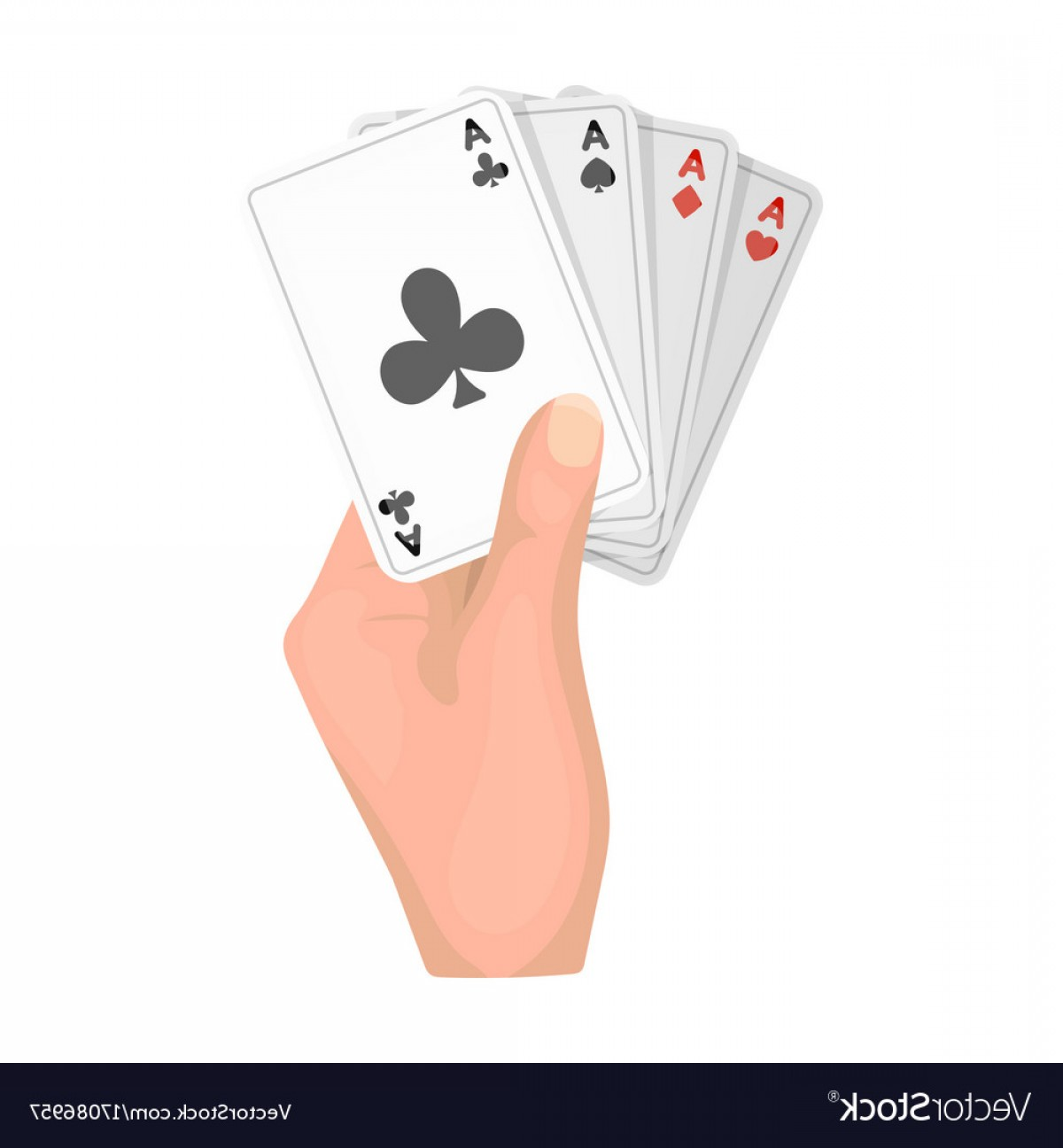 Single Playing Card Vector: Combination Of Cards In Hand Playing Cards Single Vector