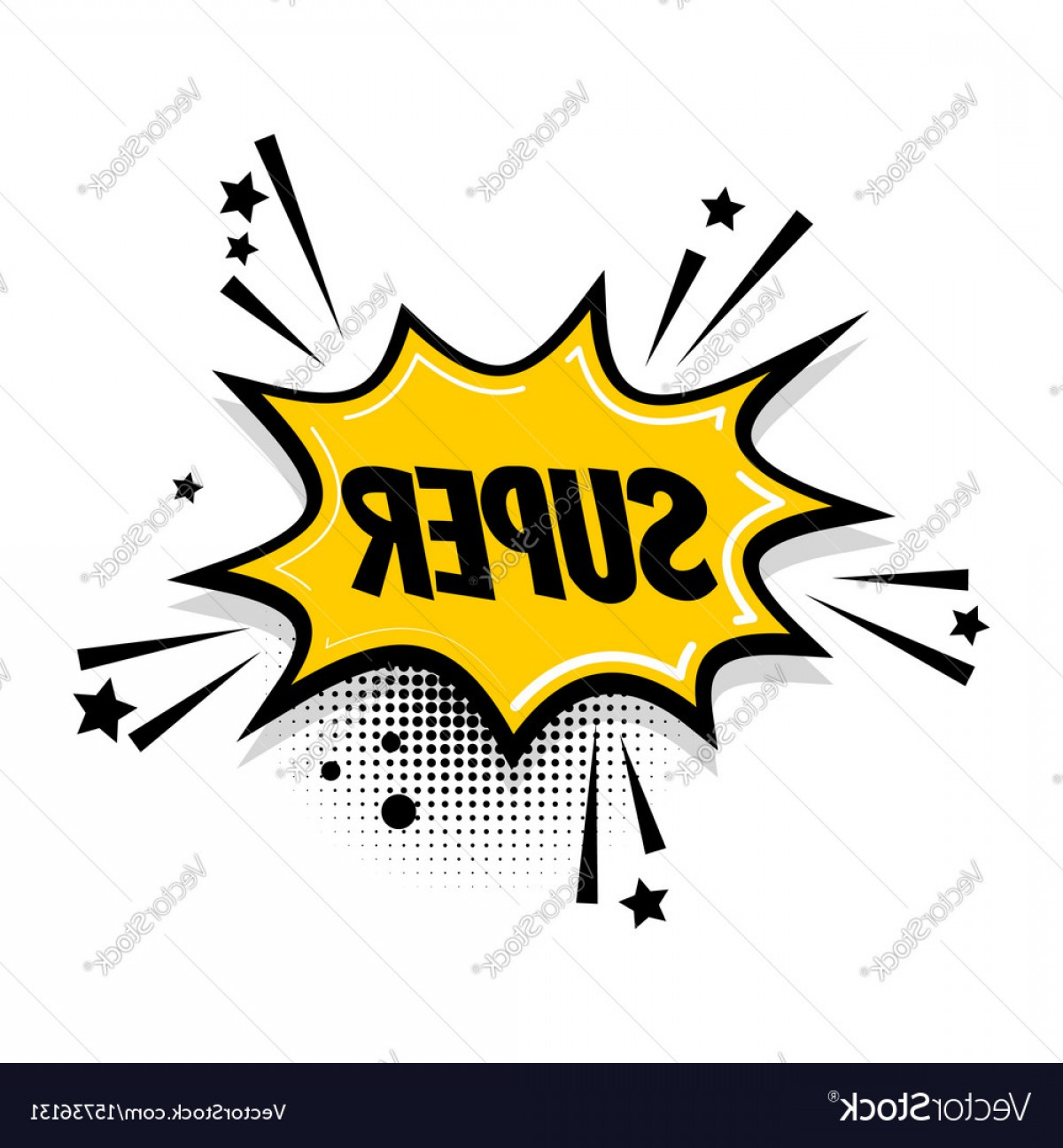 Text Illustrator Vector: Comic Text Speech Bubble Pop Art Super Vector